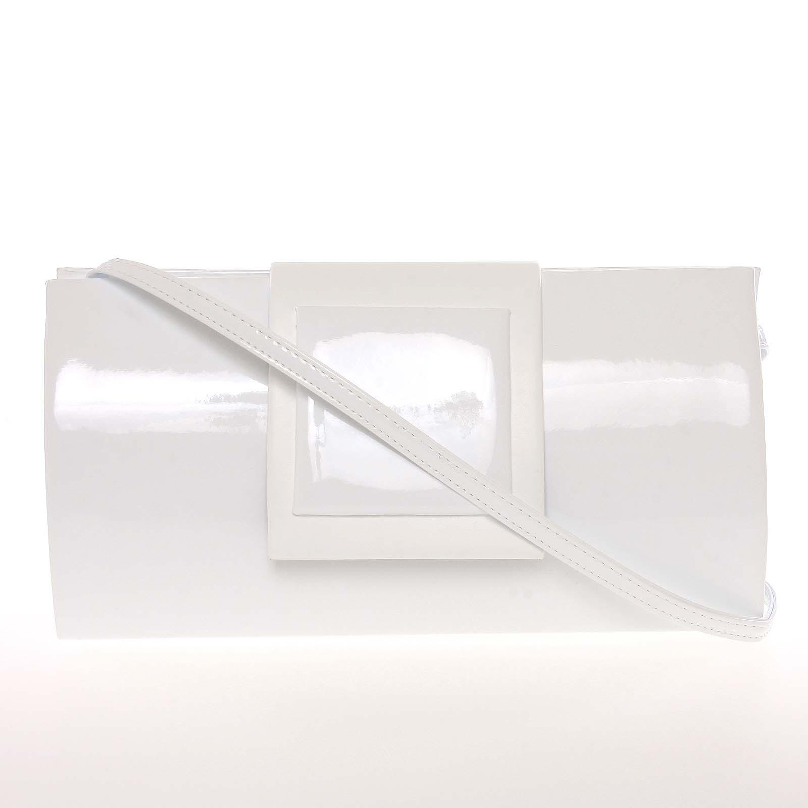 Dámské psaníčko lakované bílé - Royal Style Erna