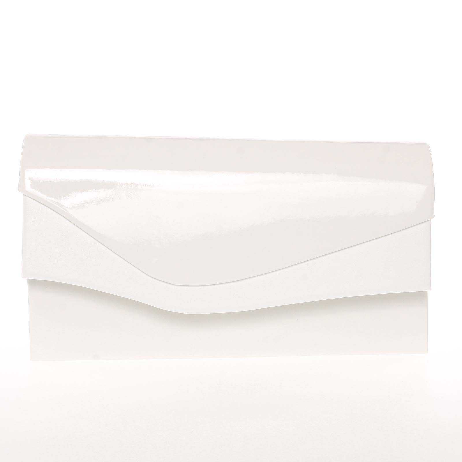 Větší originální dámské psaníčko bílé lesklé - Delami Geelong