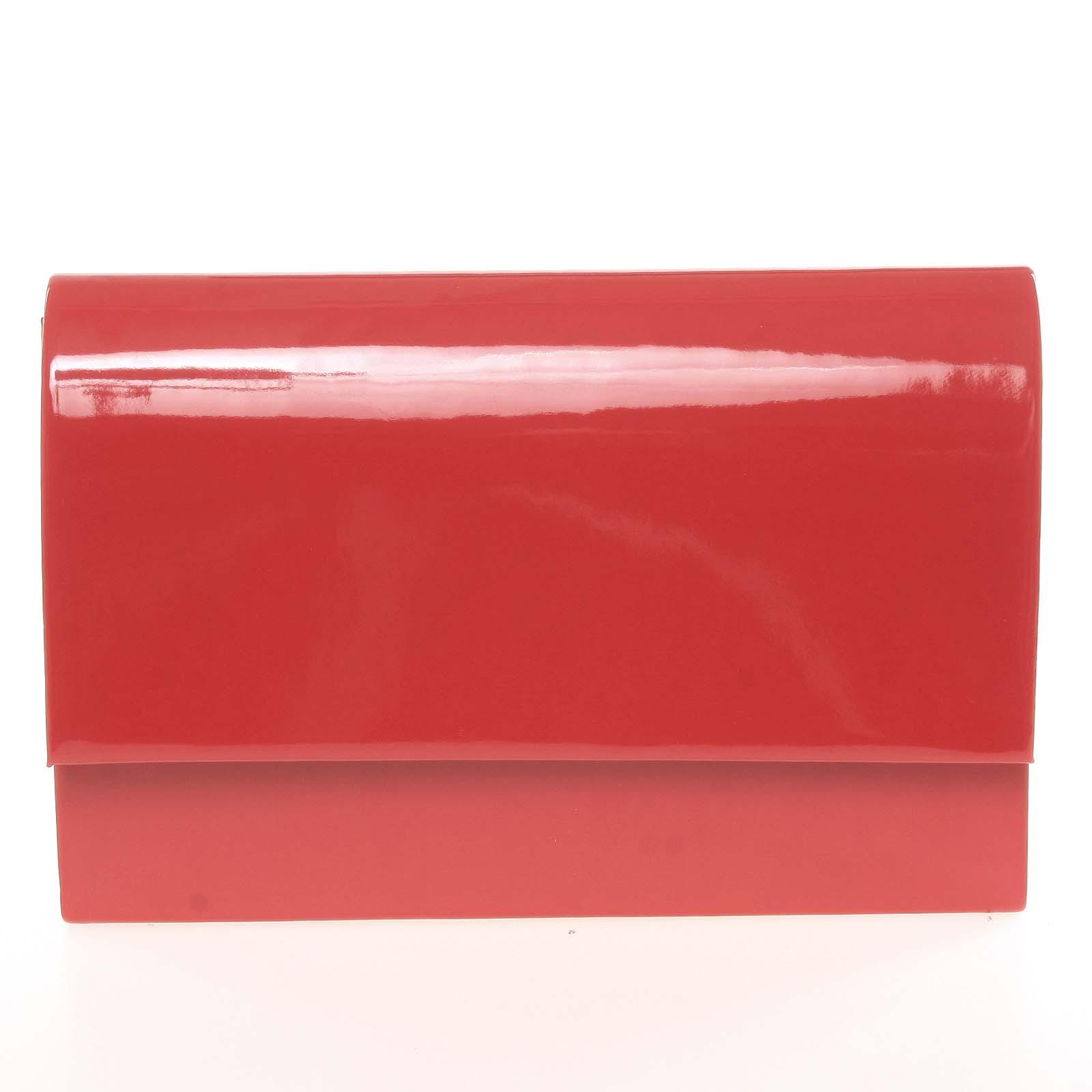 Stylové dámské psaníčko červené lesklé - Delami Boston