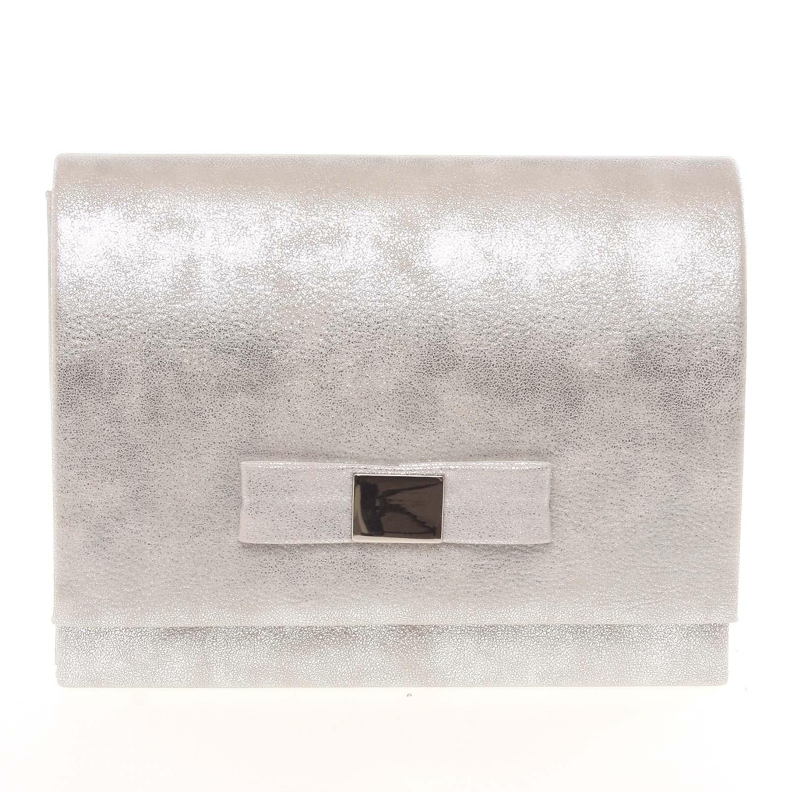 Luxusní dámské psaníčko stříbrné - Delami Chicago Fresno