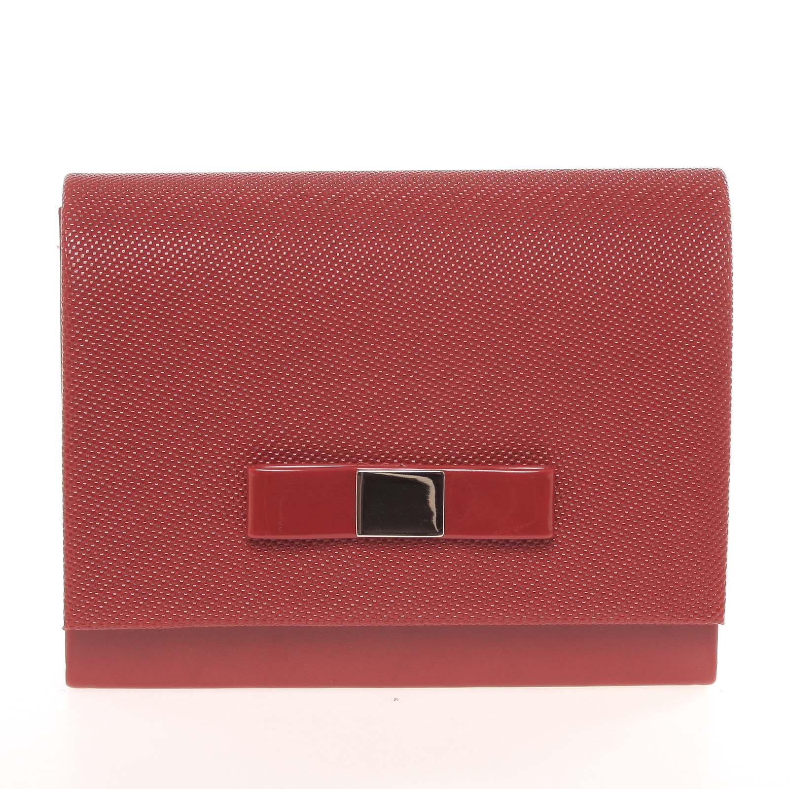 Luxusní dámské psaníčko lesklé červené se vzorem - Delami Chicago Fresno