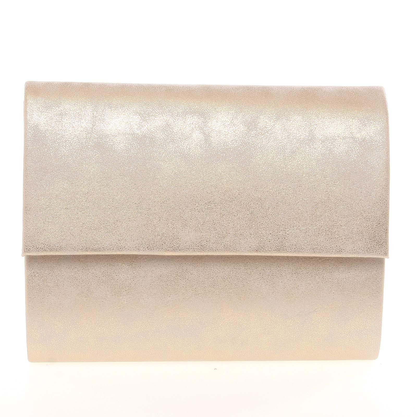 Střední dámské elegantní psaníčko zlaté matné - Delami SanDiego