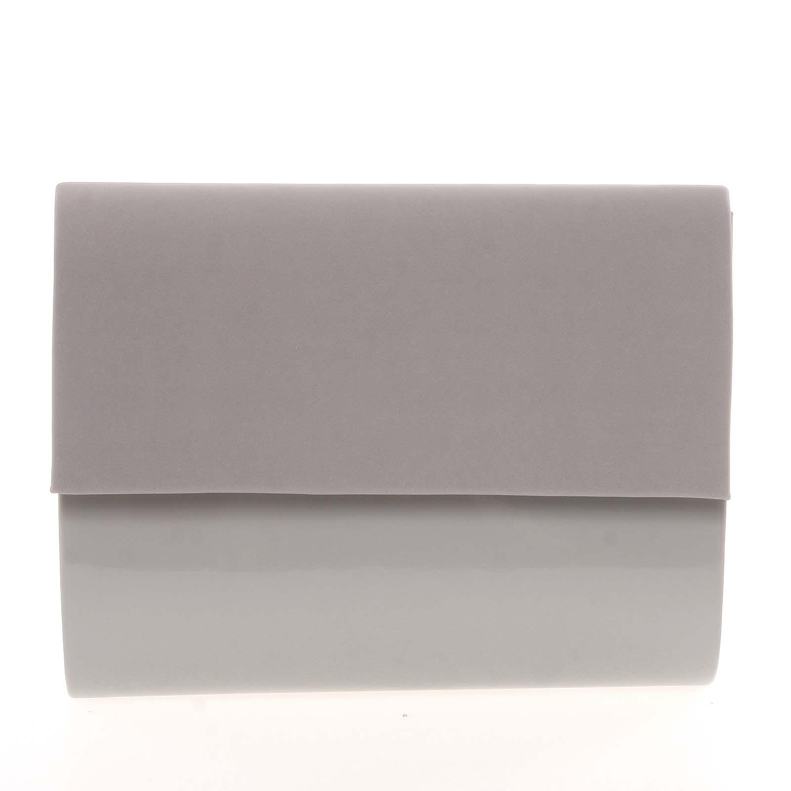 Střední dámské elegantní psaníčko šedé semišové - Delami SanDiego