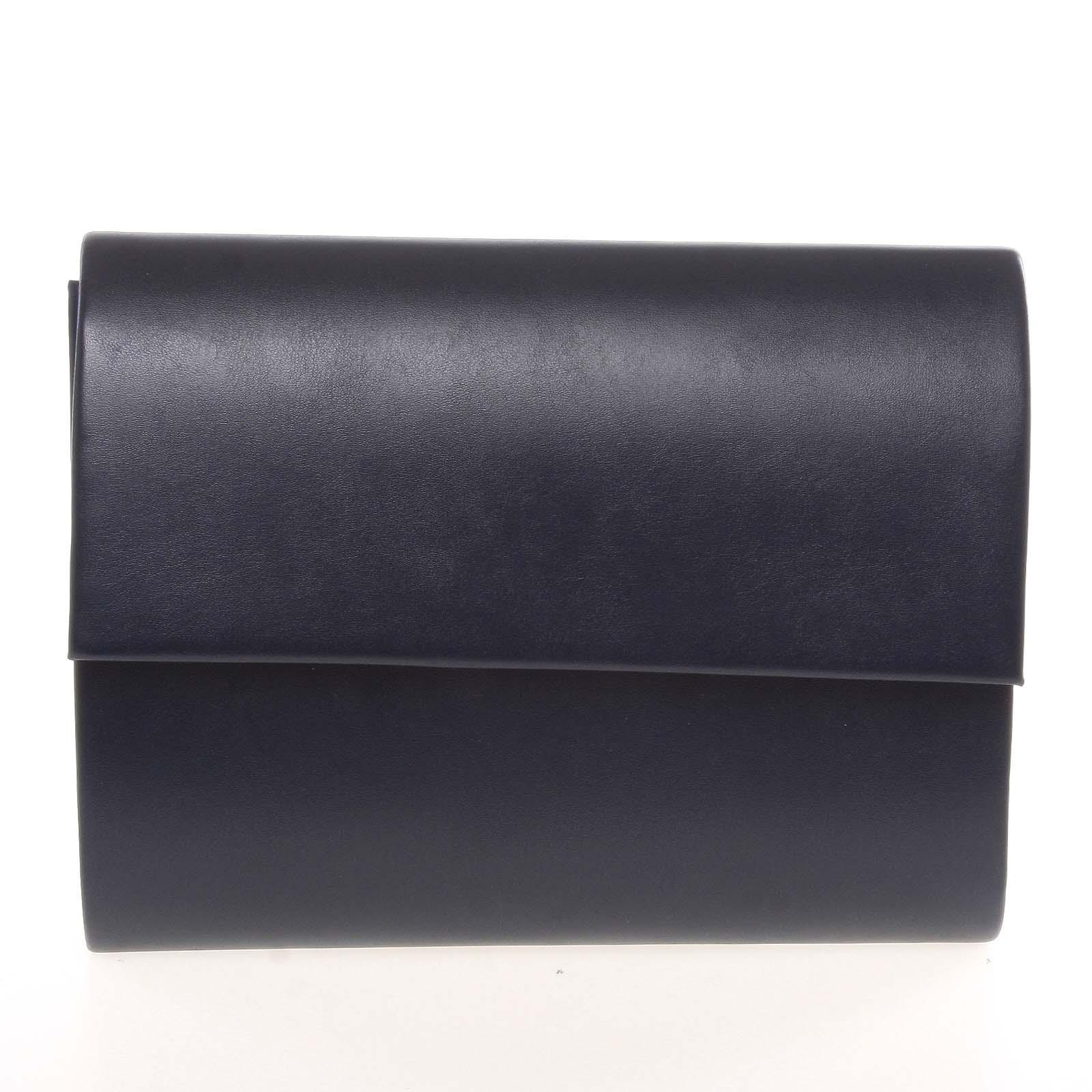 Střední dámské elegantní psaníčko tmavě modré matné - Delami SanDiego