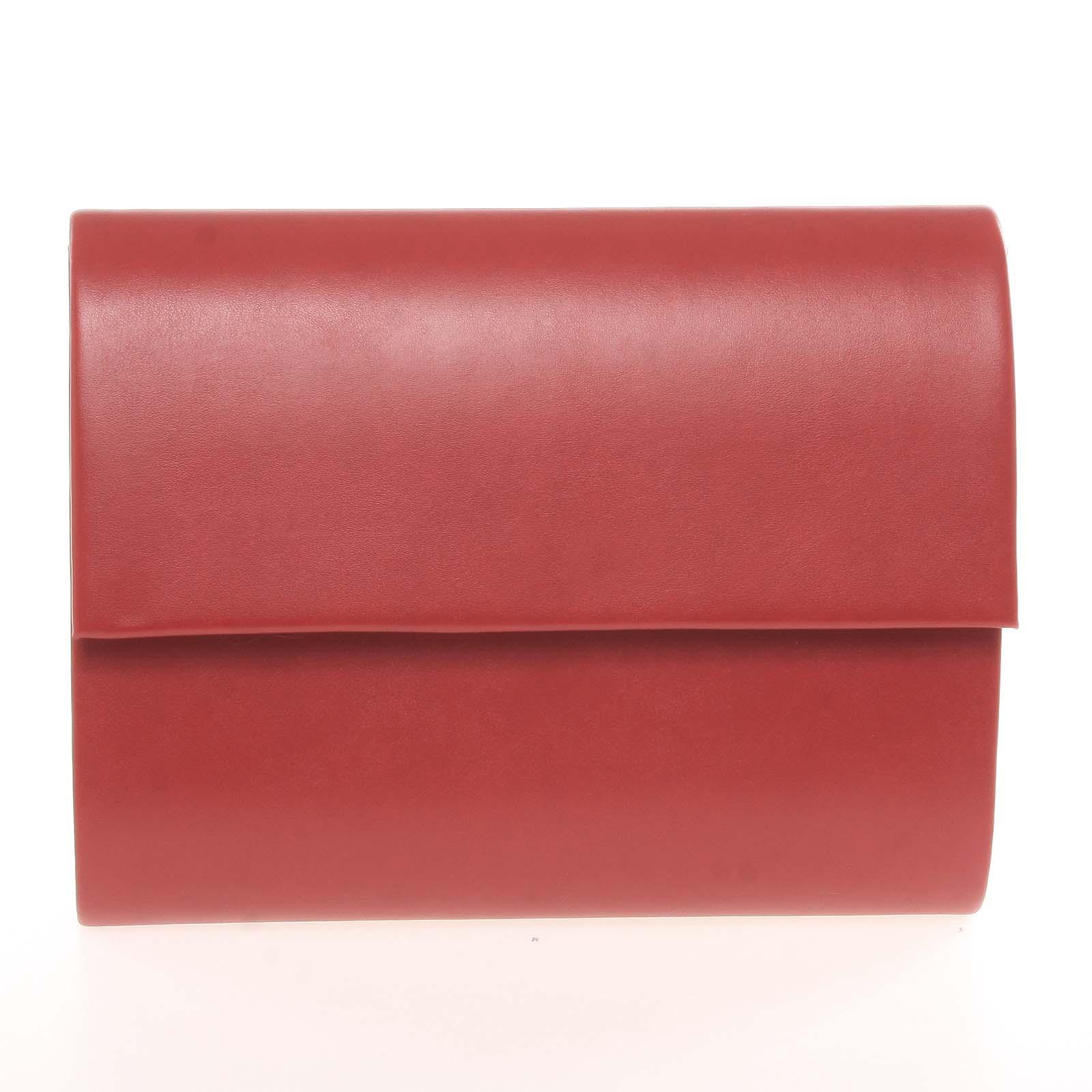 Střední dámské elegantní psaníčko červené matné - Delami SanDiego
