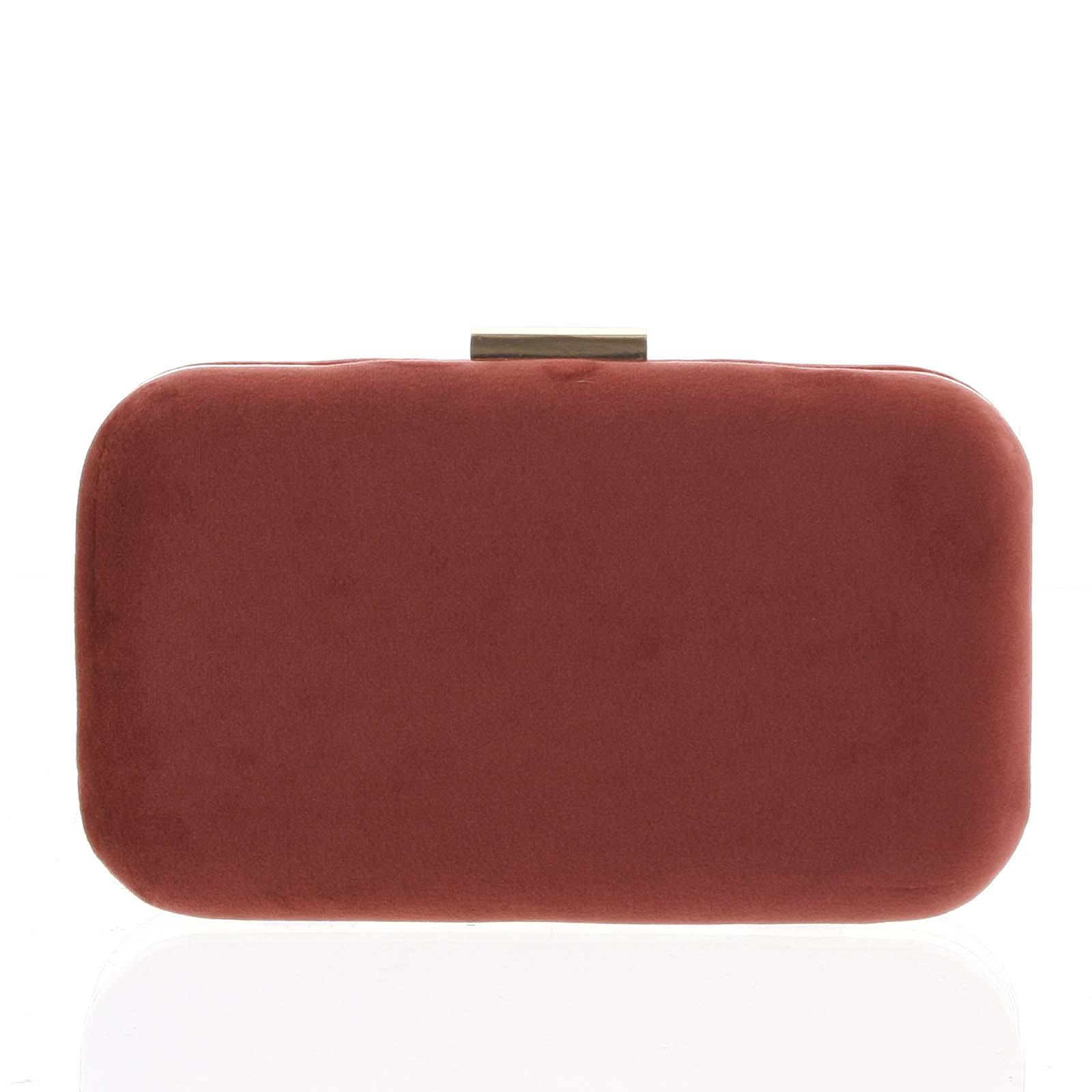 Luxusní semišové dámské psaníčko tmavě červené - Delami LK5625