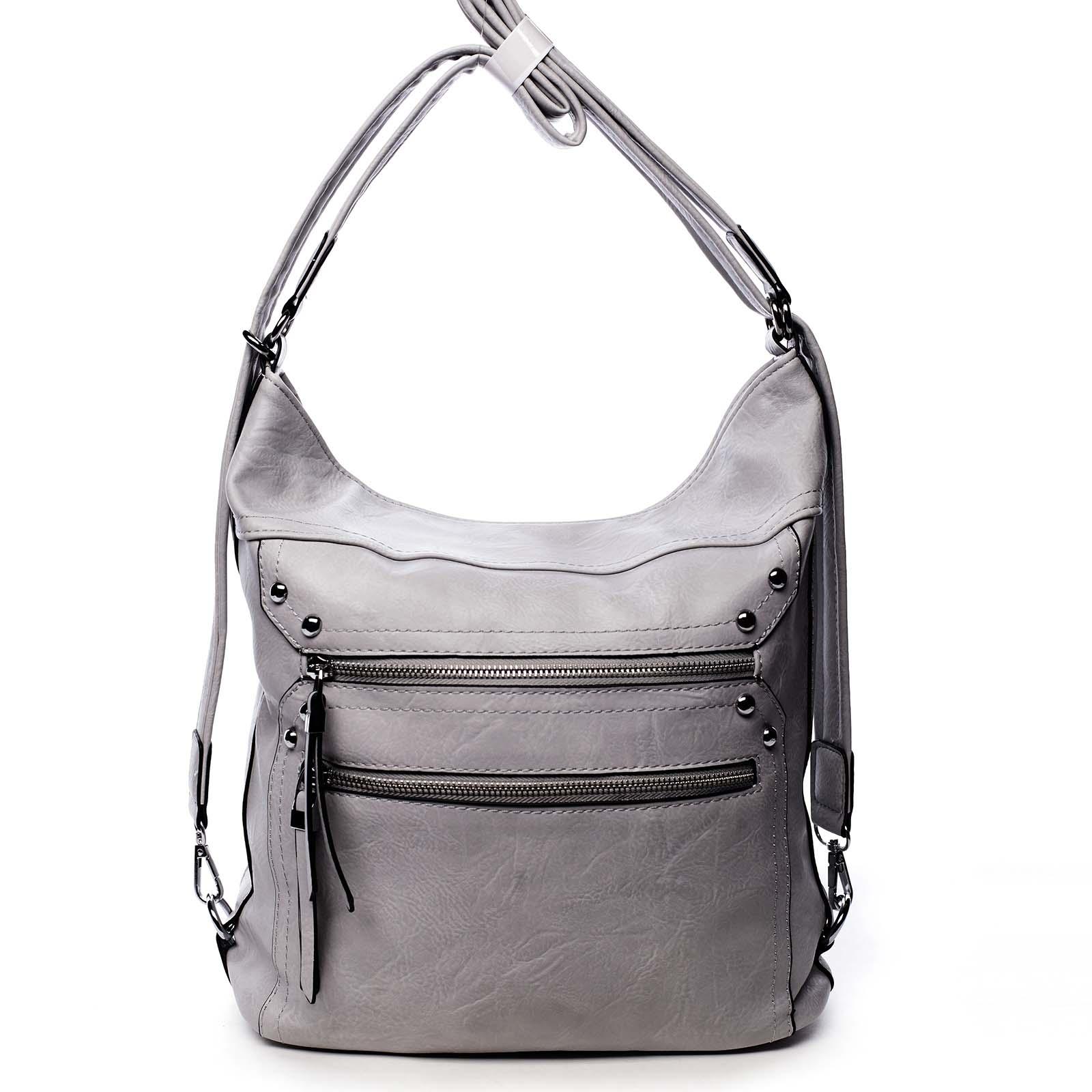 Dámská kabelka batoh světle šedá - Romina Alfa
