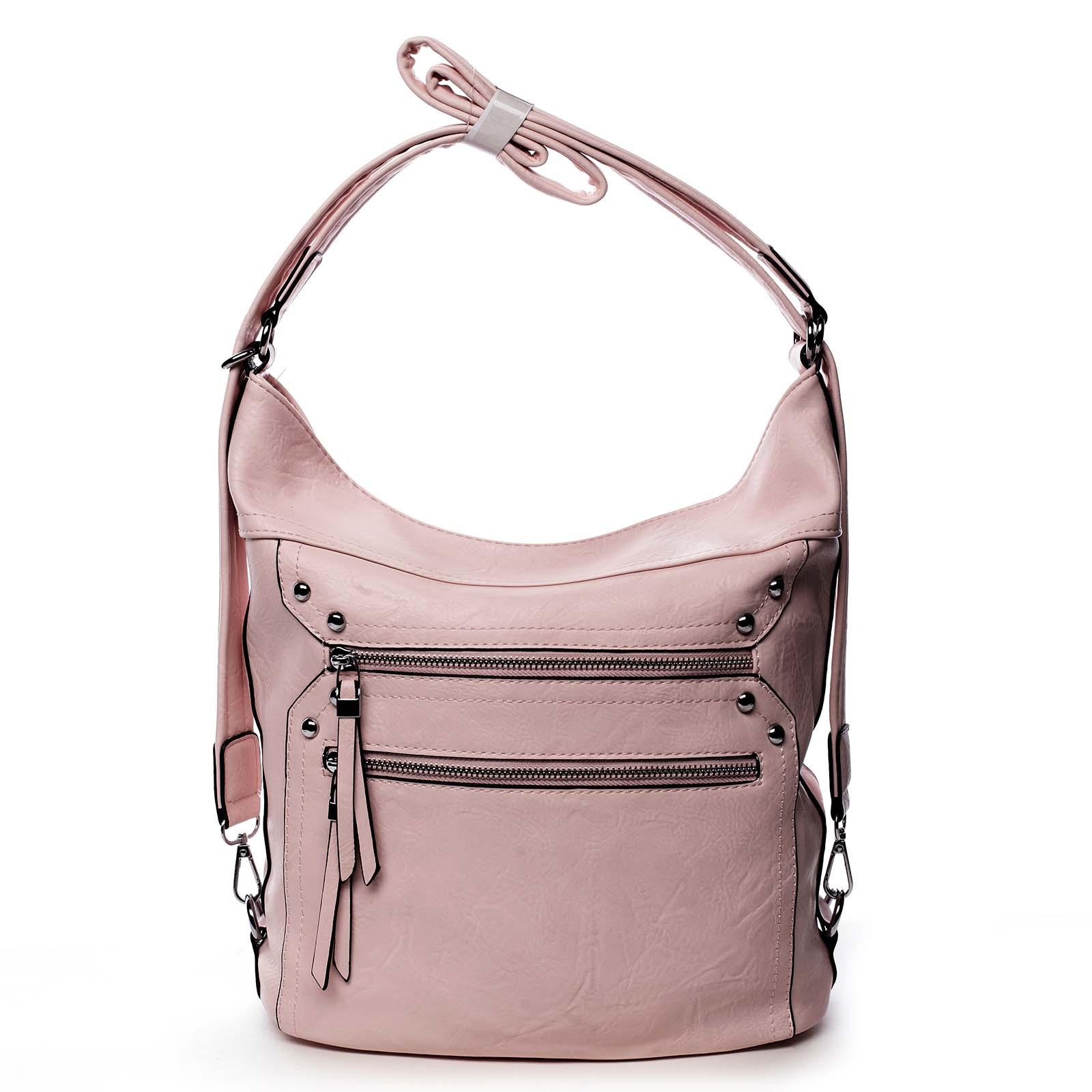 Dámská kabelka batoh růžová - Romina Alfa