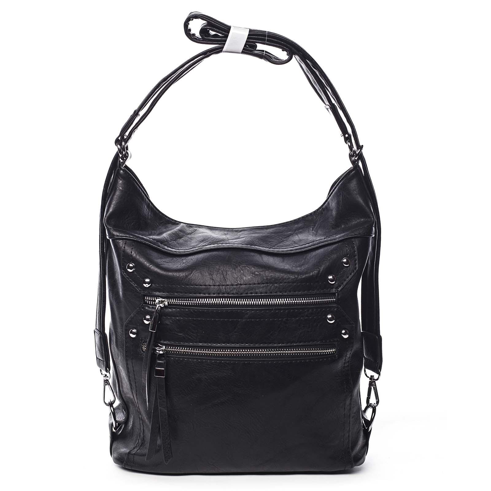 Dámská kabelka batoh černá - Romina Alfa