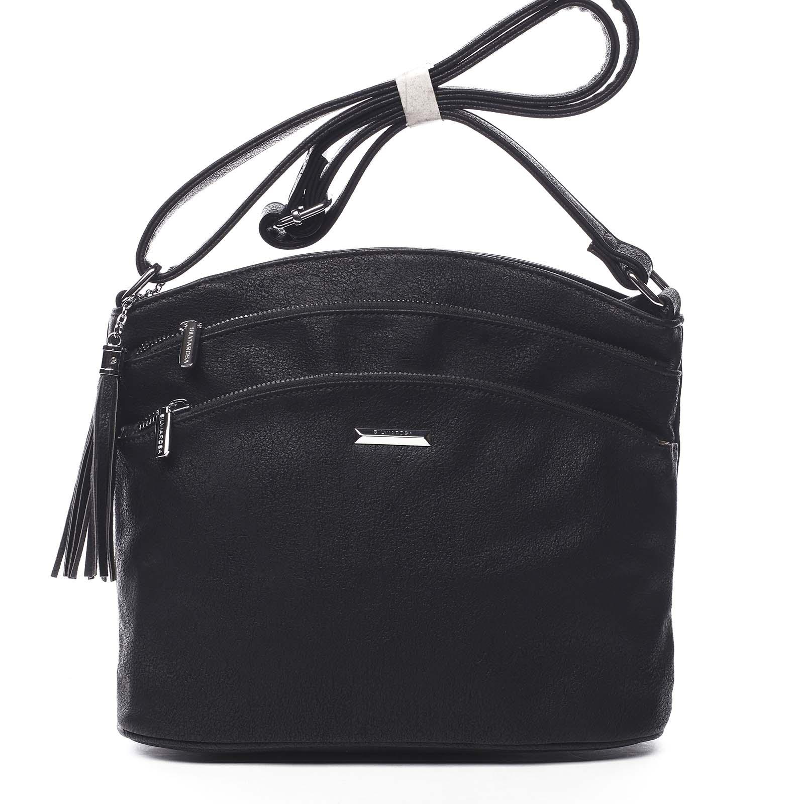 Dámská crossbody kabelka černá - Silvia Rosa Ubuhle