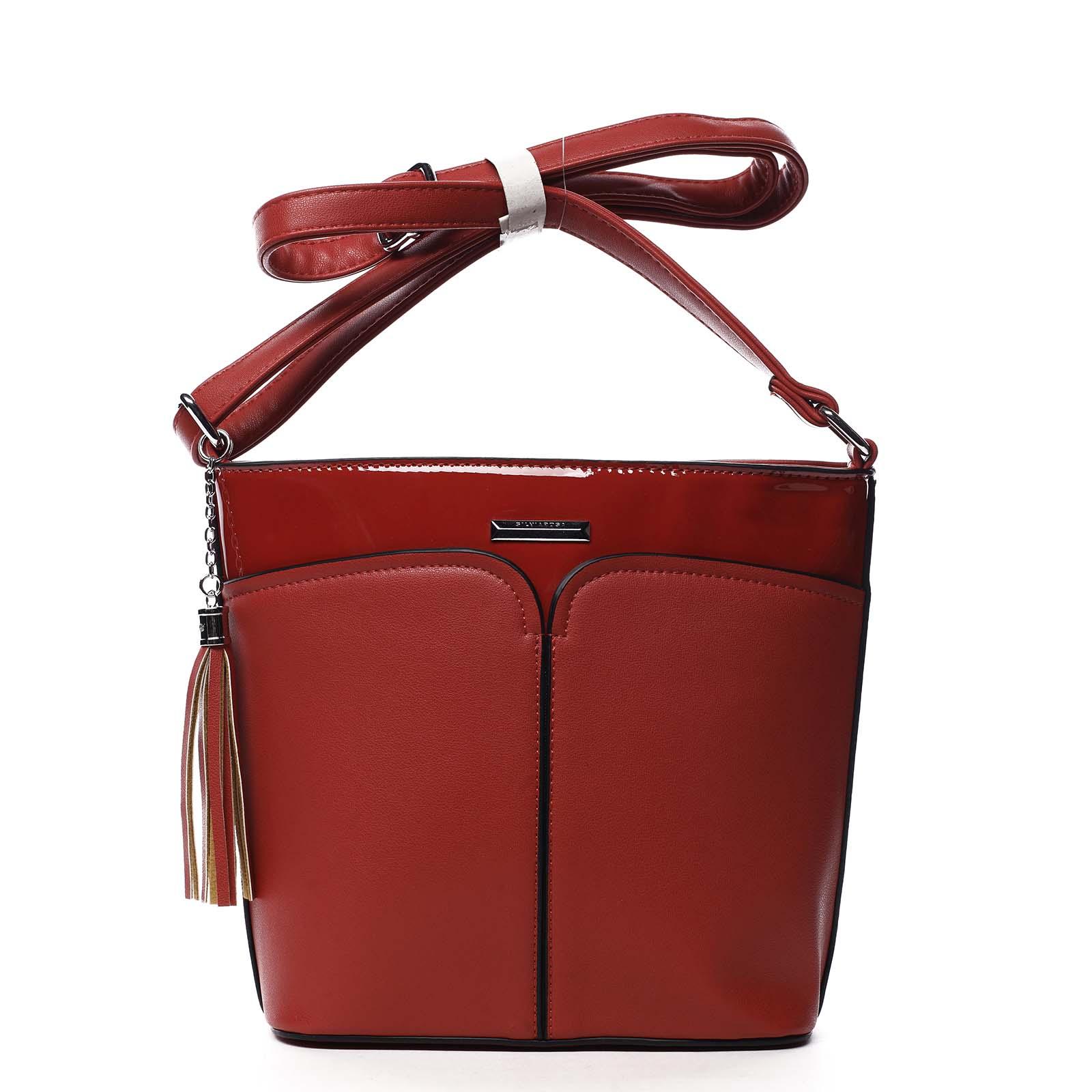 Dámská crossbody kabelka červená - Silvia Rosa Enegmi