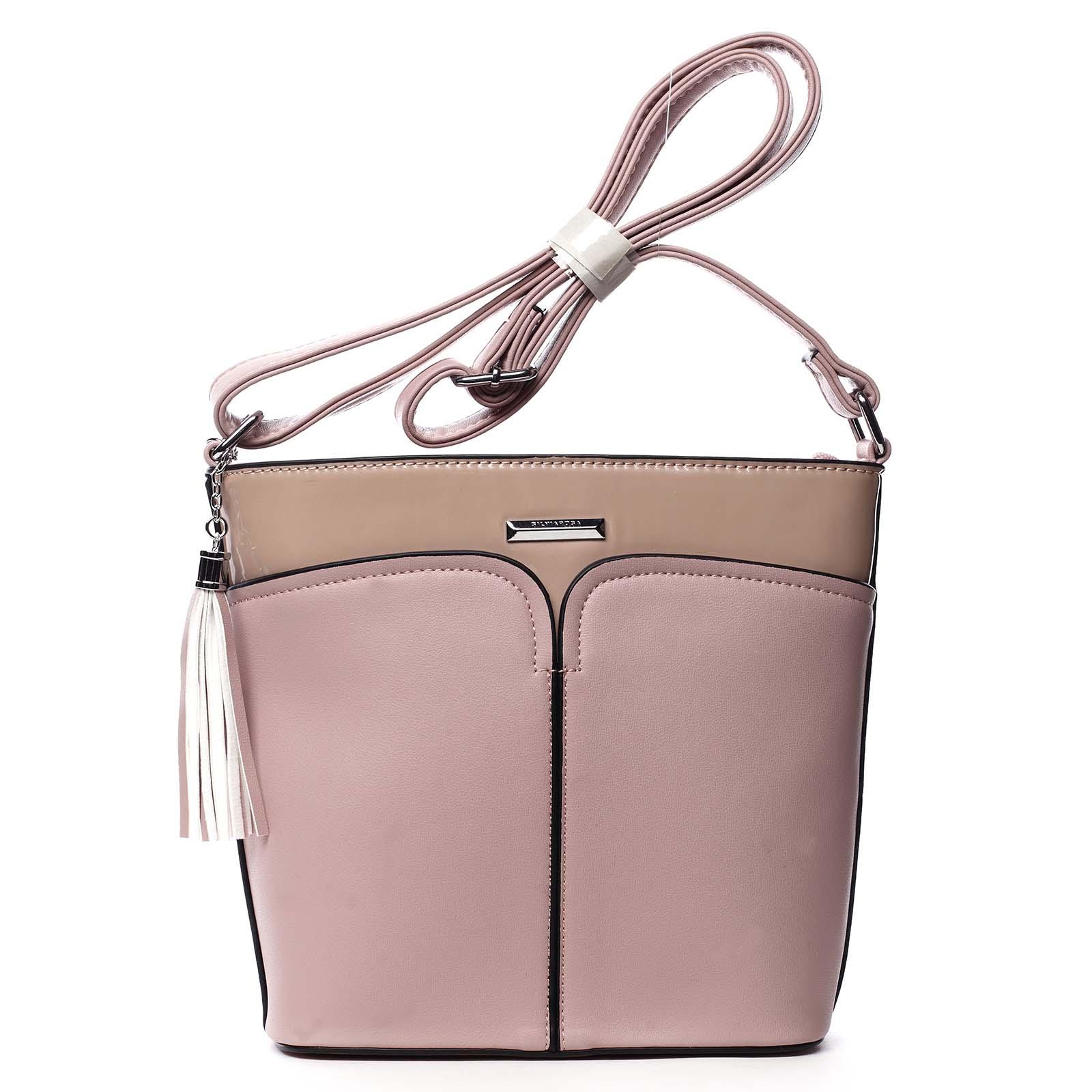 Dámská crossbody kabelka růžová - Silvia Rosa Enegmi