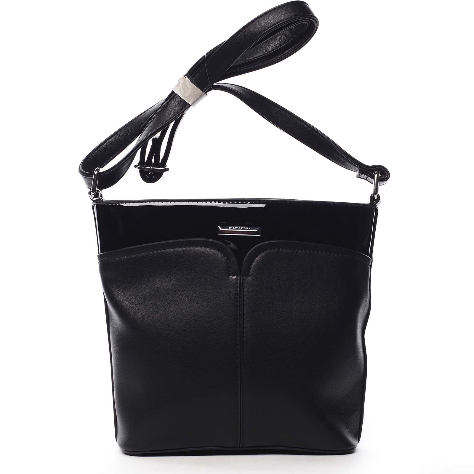 Dámská crossbody kabelka černá - Silvia Rosa Enegmi