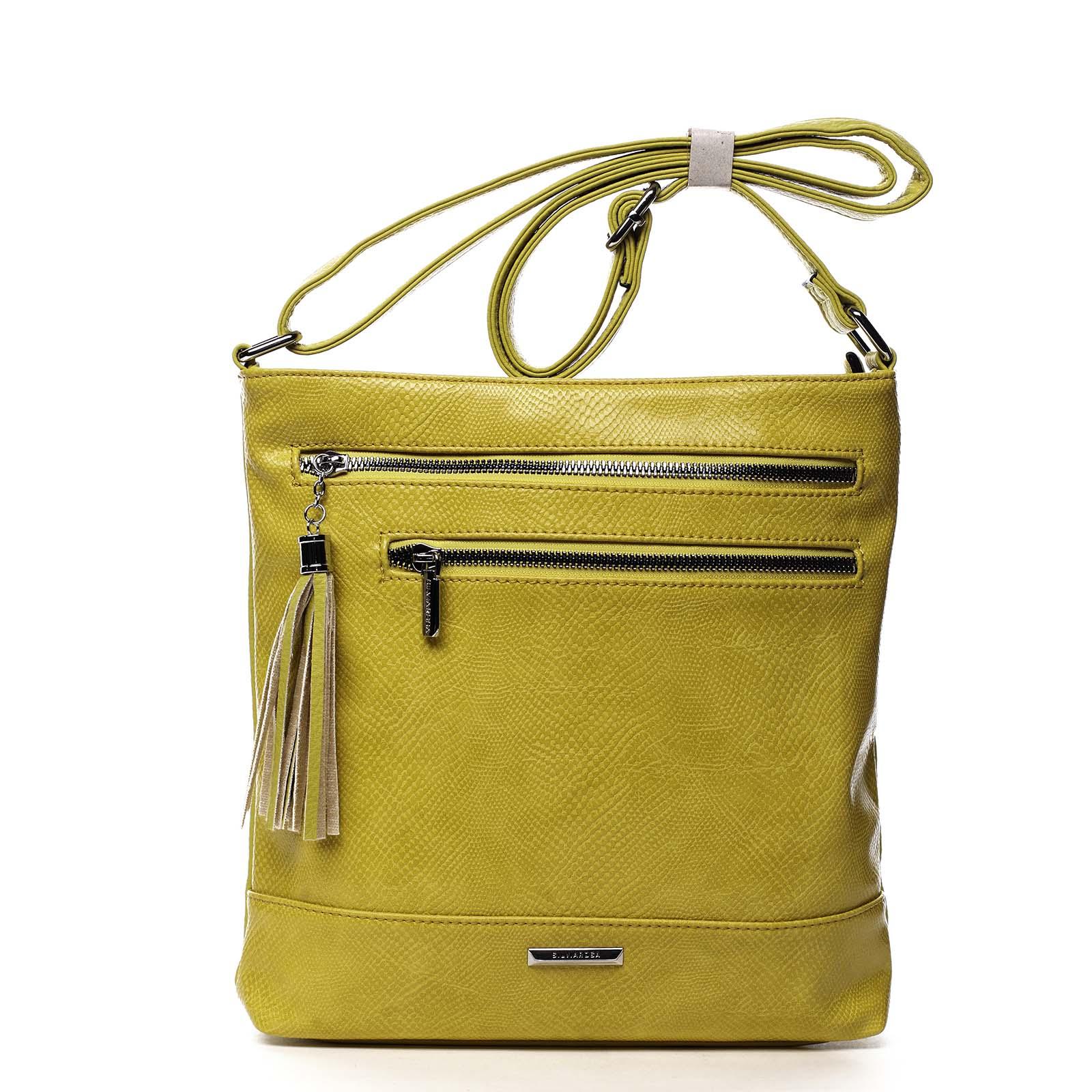 Dámská crossbody kabelky žlutá - Silvia Rosa Babena Snake