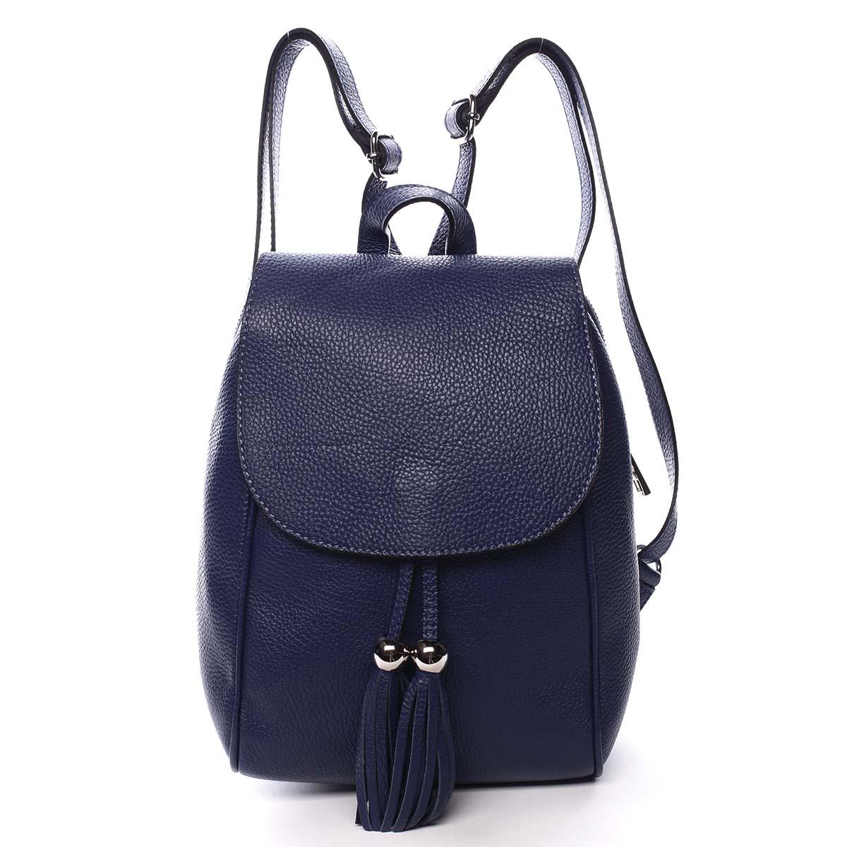 Dámský kožený batůžek tmavě modrý - ItalY Joseph