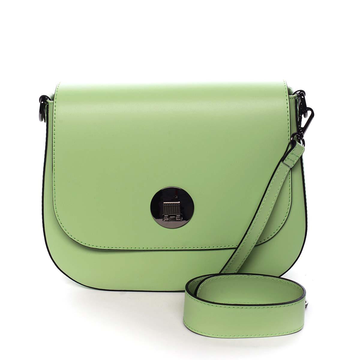 Dámská kožená kabelka pastelově zelená - ItalY Agustina