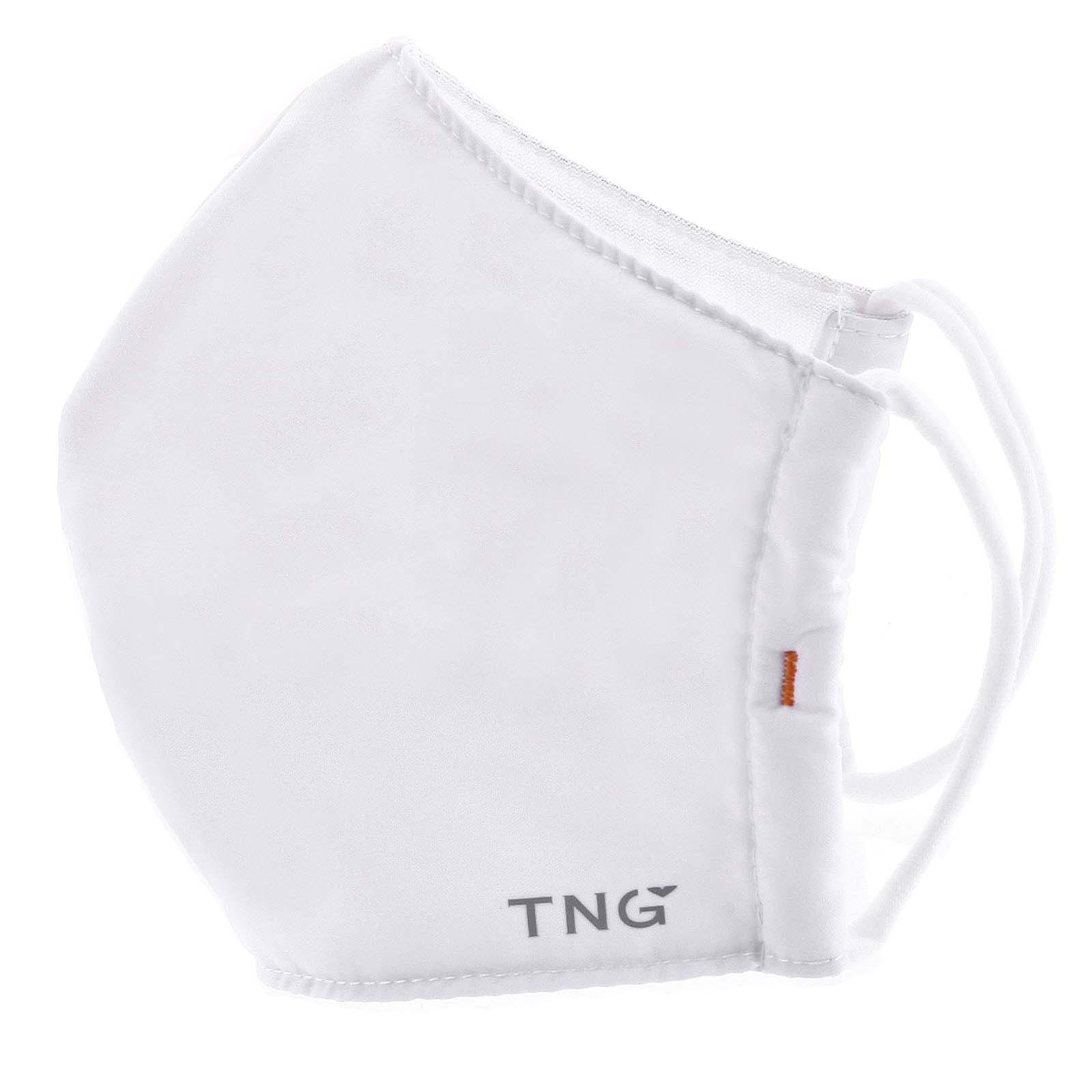 Stylová antibakteriální rouška třívrstvá bílá - TNG L