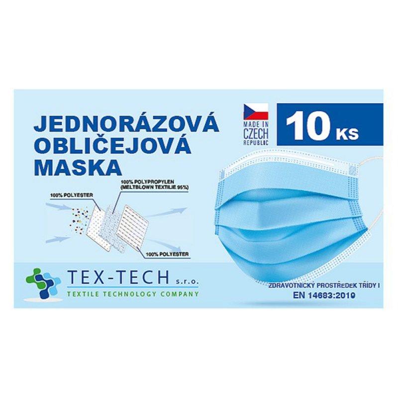 Jednorázová zdravotnická rouška české výroby 10ks