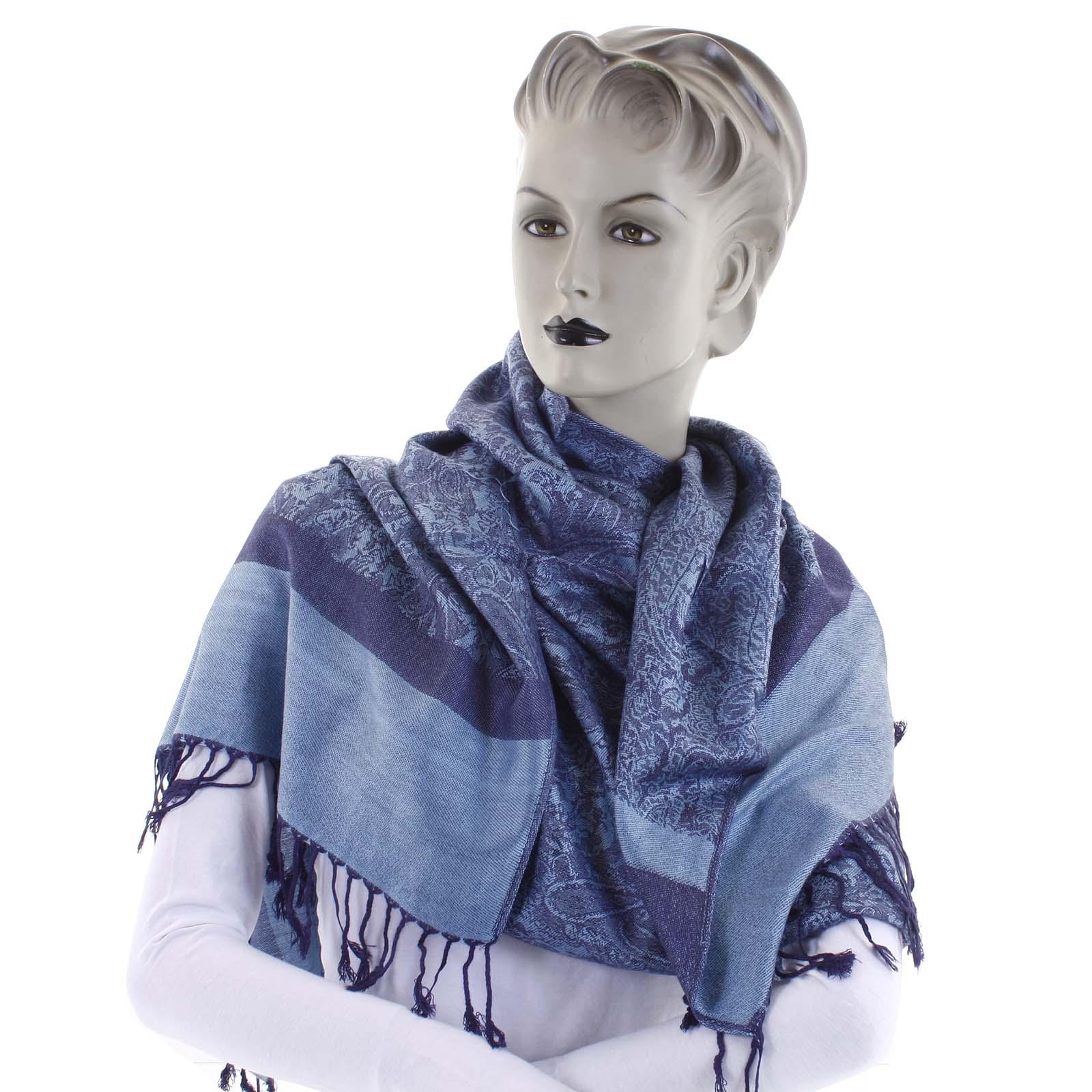 Dámská kašmírová šála pastelově modrá - CASH Andie