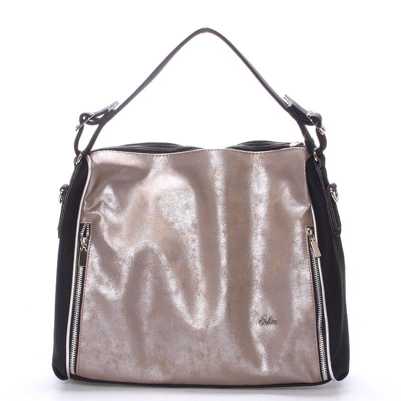 Luxusní dámská kabelka přes rameno antracitová - SEKA Gema