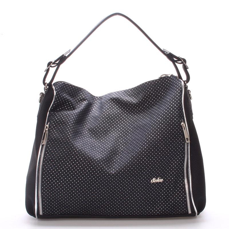 Luxusní dámská kabelka přes rameno stříbrná - SEKA Gema