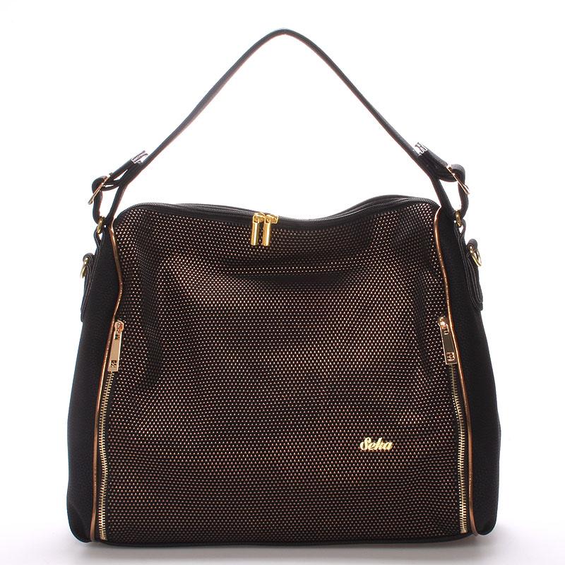 Luxusní dámská kabelka přes rameno zlatá - SEKA Gema