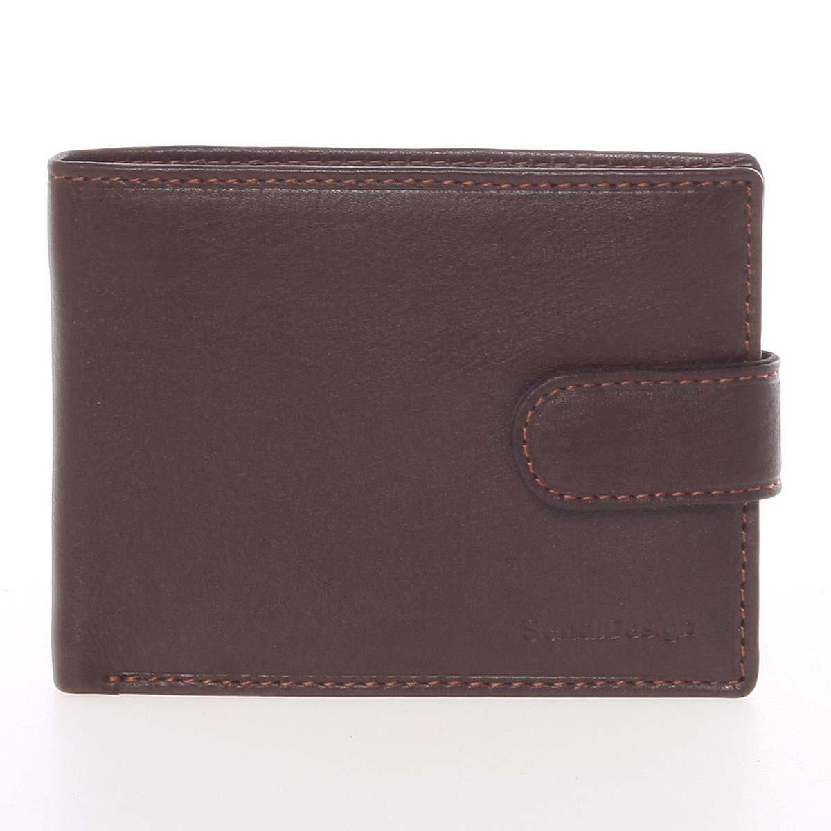 Pánská hnědá kožená peněženka se zápinkou - SendiDesign Prejem