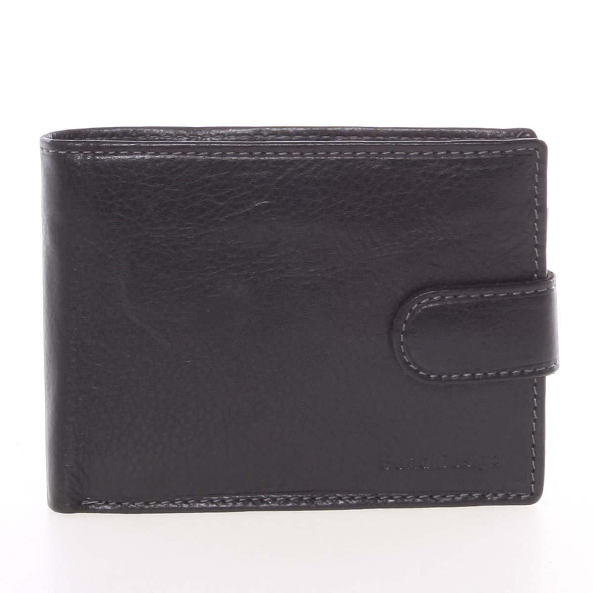 Pánská černá kožená peněženka se zápinkou - SendiDesign Prejem