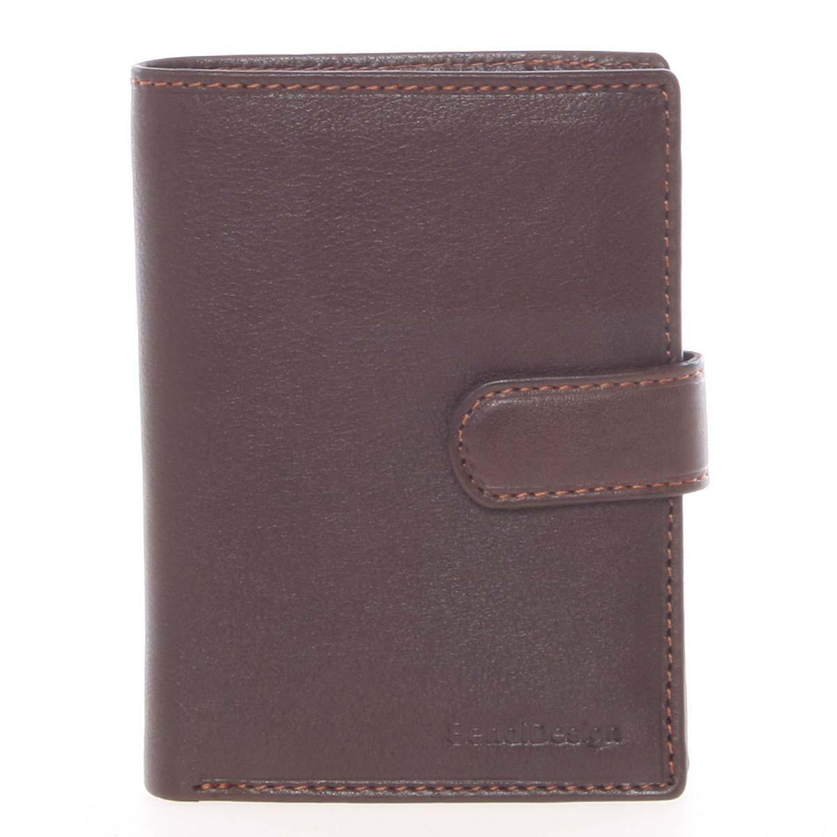 Hnědá pánská kožená peněženka - SendiDesign Sampson