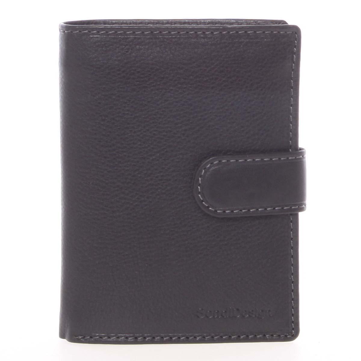 Černá pánská kožená peněženka - SendiDesign Sampson