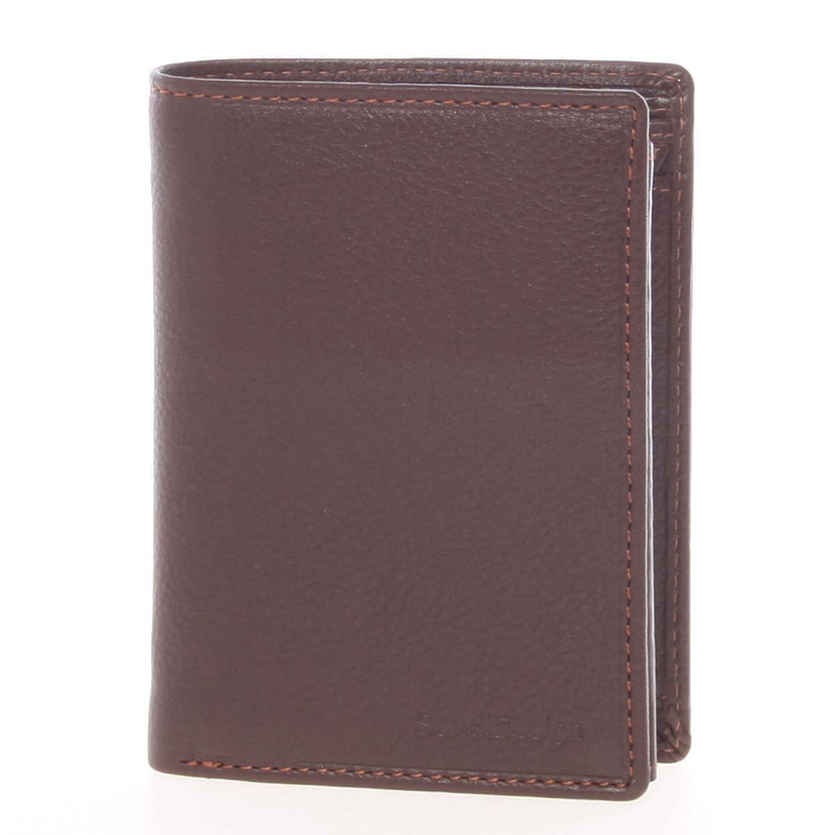 Volná pánská kožená peněženka hnědá - SendiDesign Priam