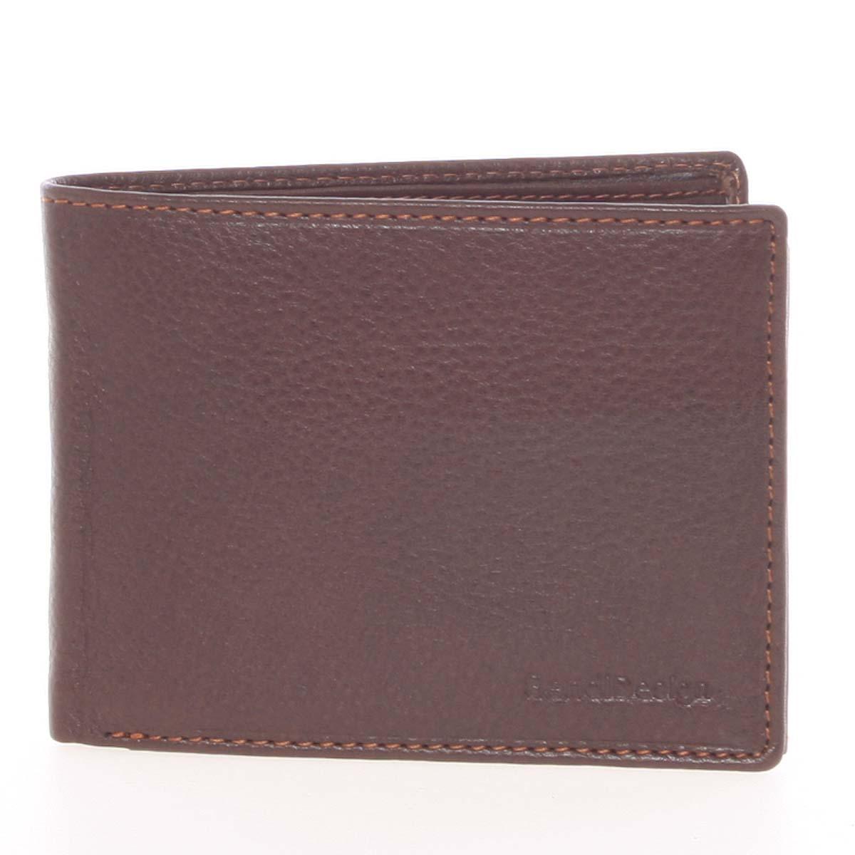 Kvalitní volná pánská kožená peněženka hnědá - SendiDesign Poseidon