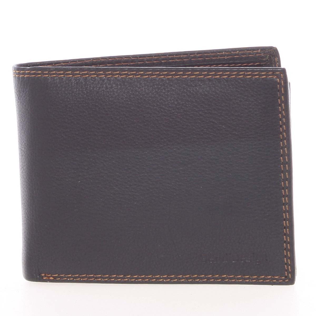 Kvalitní pánská kožená černá volná peněženka - SendiDesign Sabastian