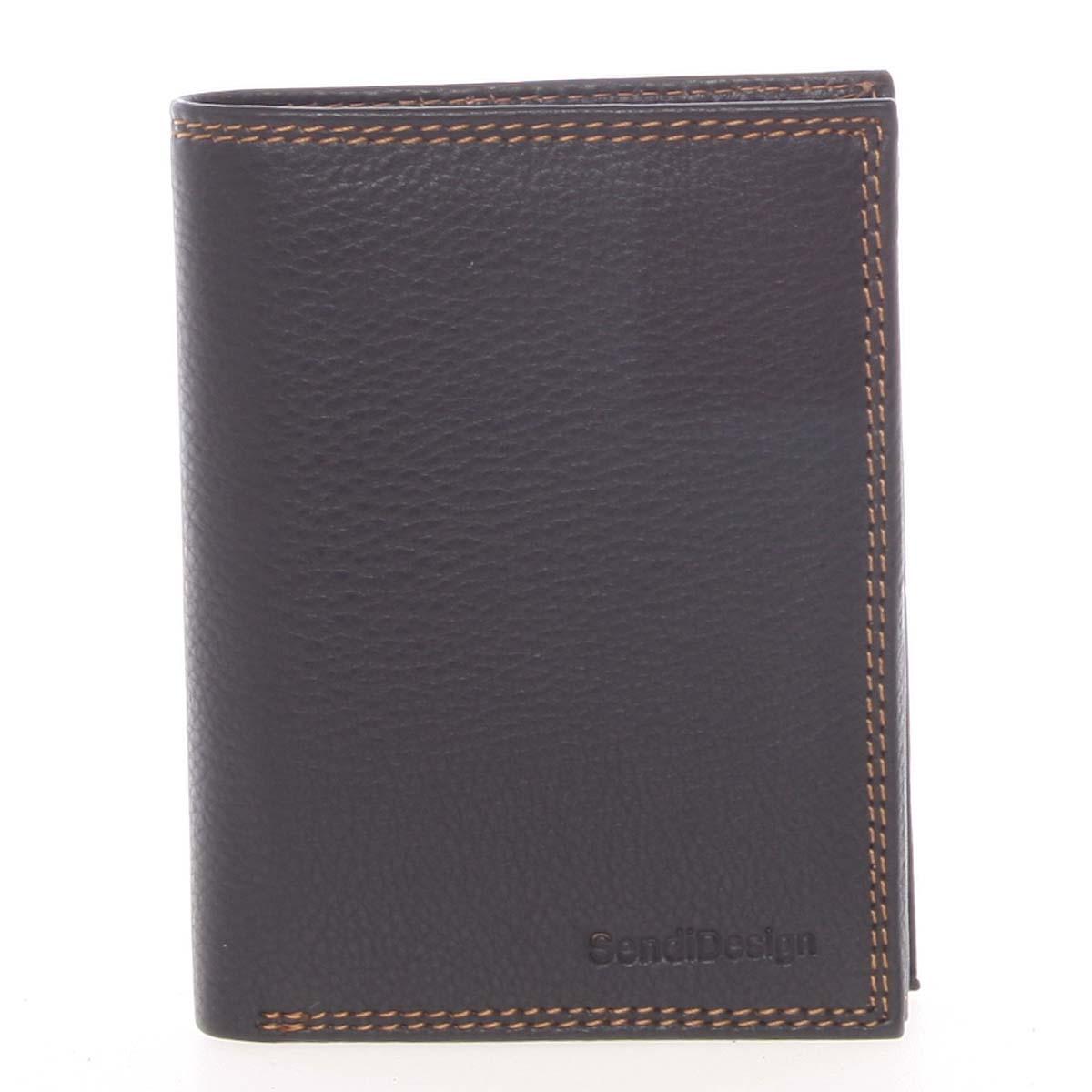 Luxusní pánská kožená černá volná peněženka - SendiDesign Rodion