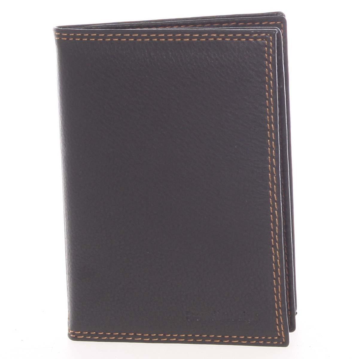 Luxusní pánská kožená černá prošívaná dokladovka - SendiDesign Rhesus