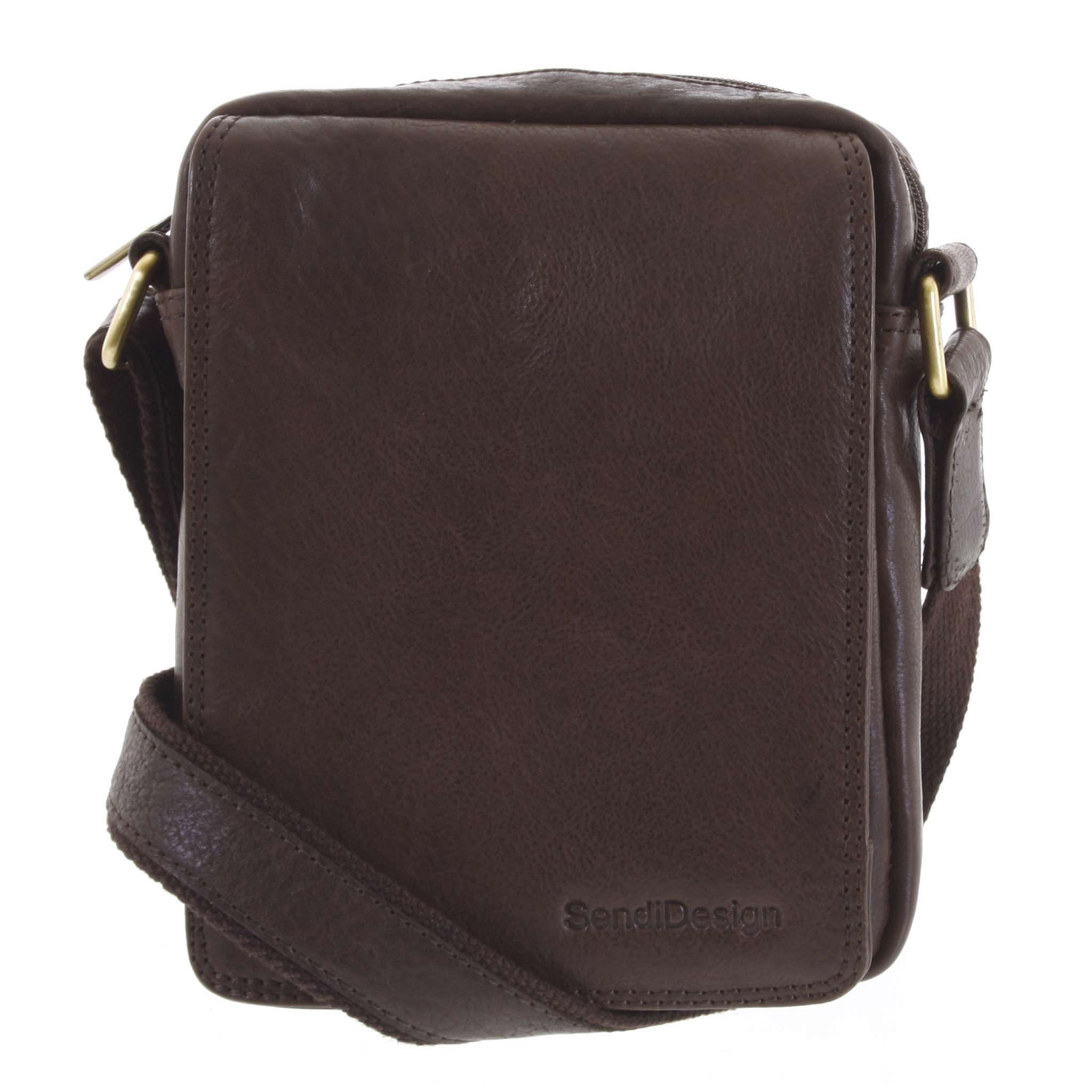 Pánská kožená taška tmavě hnědá - SendiDesign Merlim