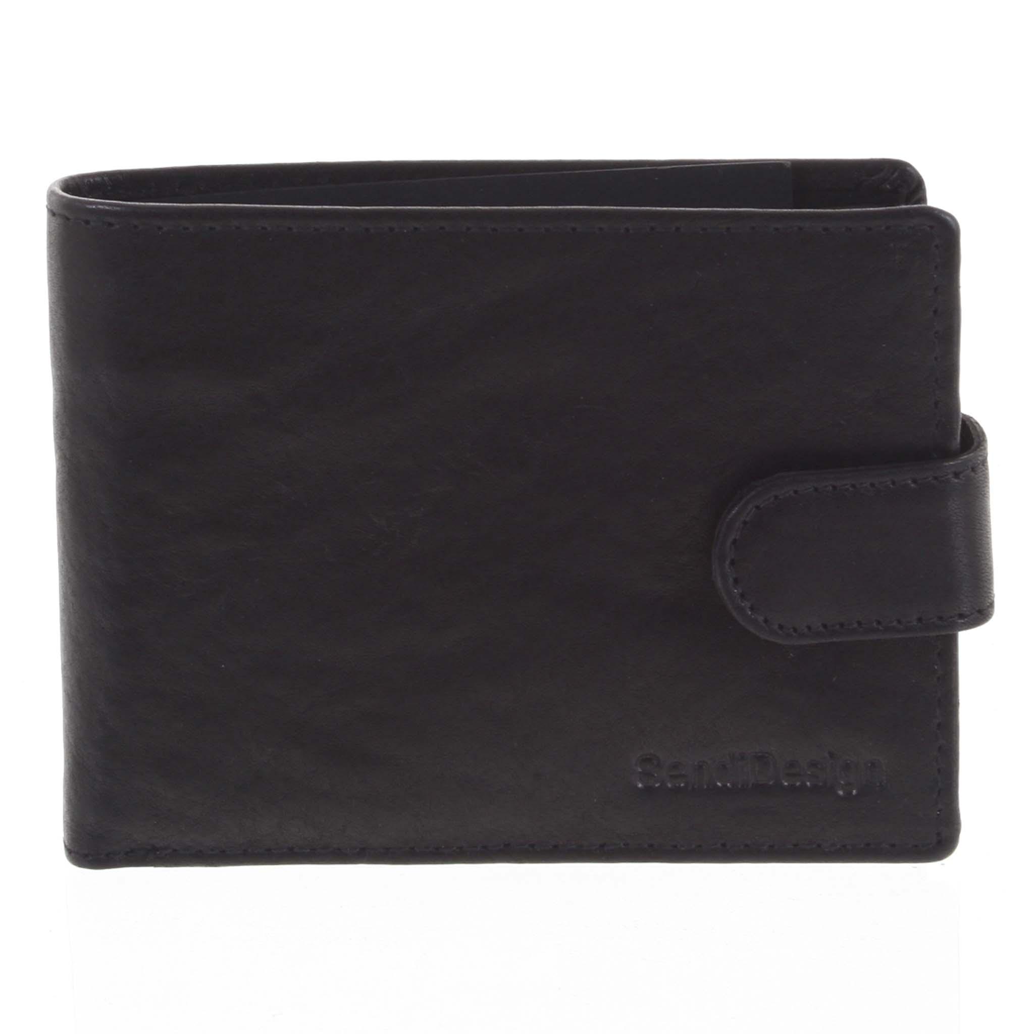 Pánská kožená peněženka černá - SendiDesign Mheo