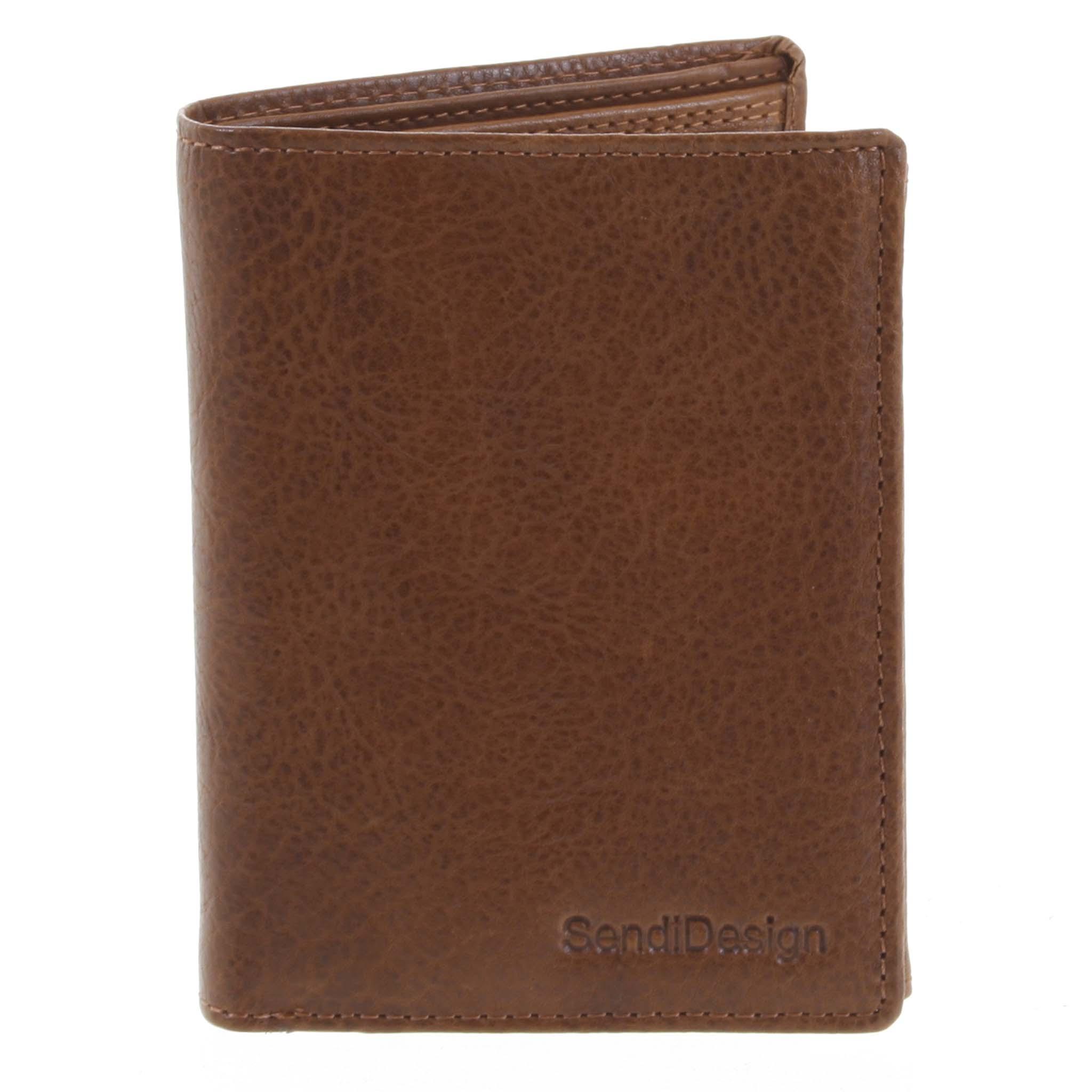 Pánská kožená peněženka světle hnědá - SendiDesign Benny