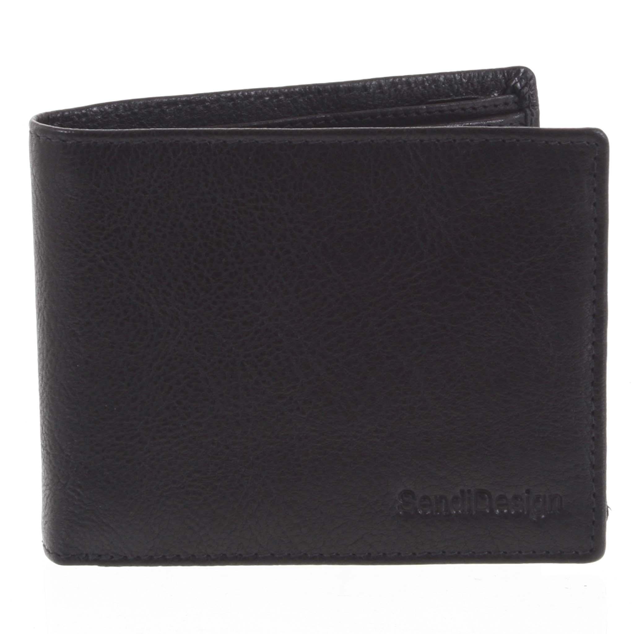 Pánská kožená peněženka černá - SendiDesign Maty
