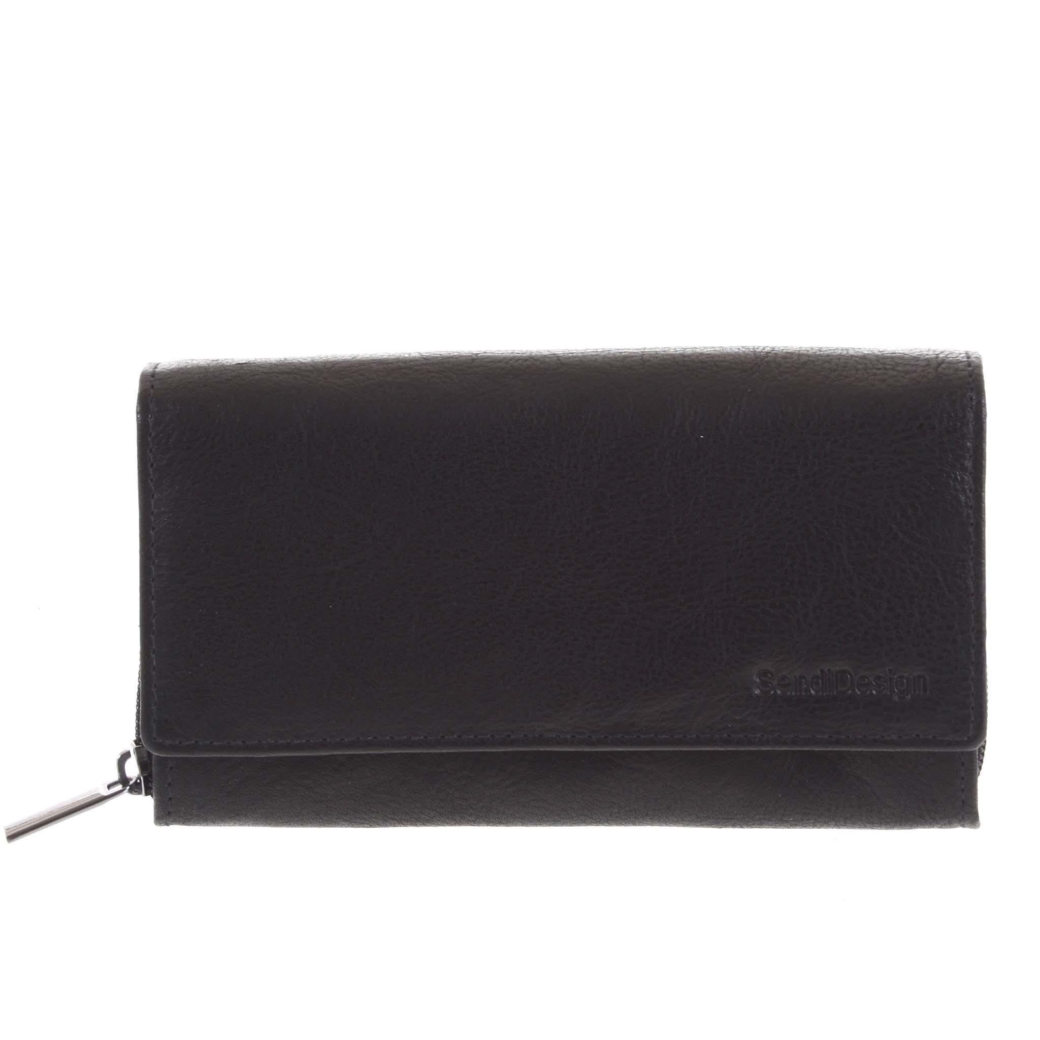 Dámská kožená  peněženka černá - SendiDesign Zimbie