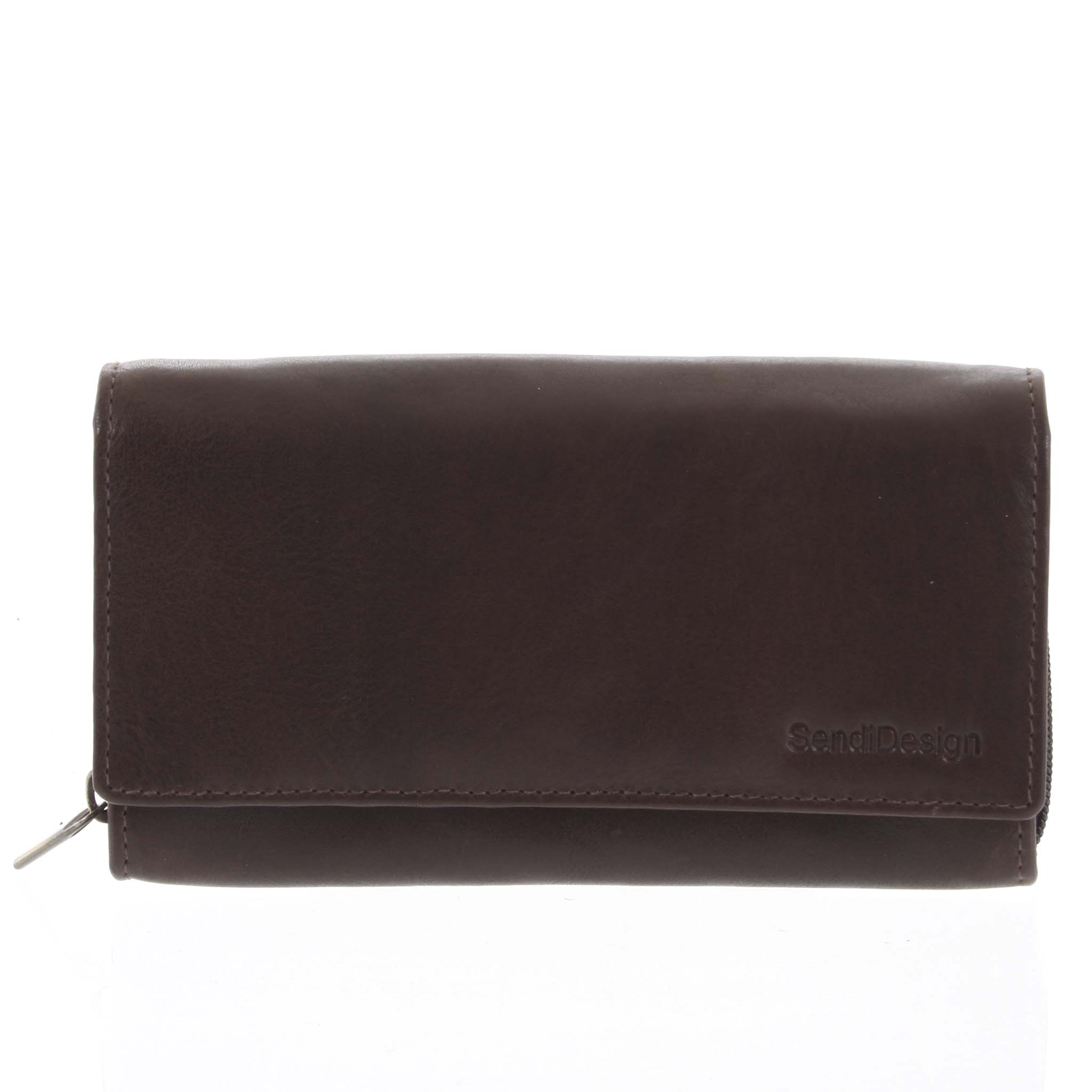 Dámská kožená peněženka tmavě hnědá - SendiDesign Zimbie
