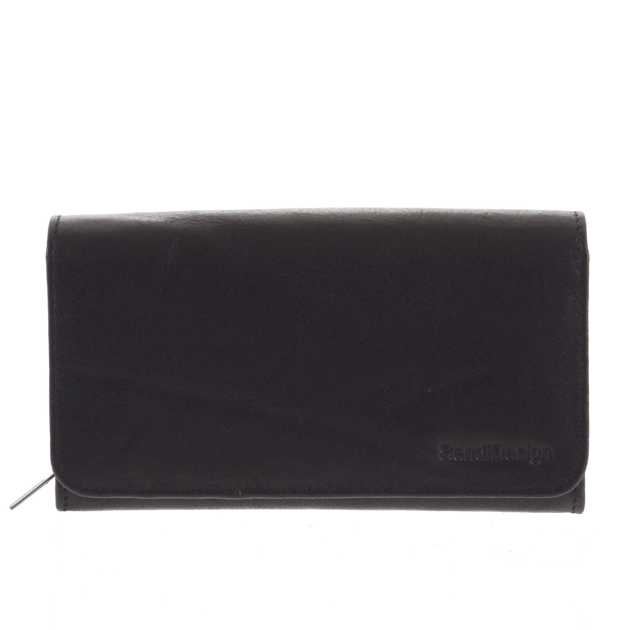 Dámská kožená peněženka černá - SendiDesign Really