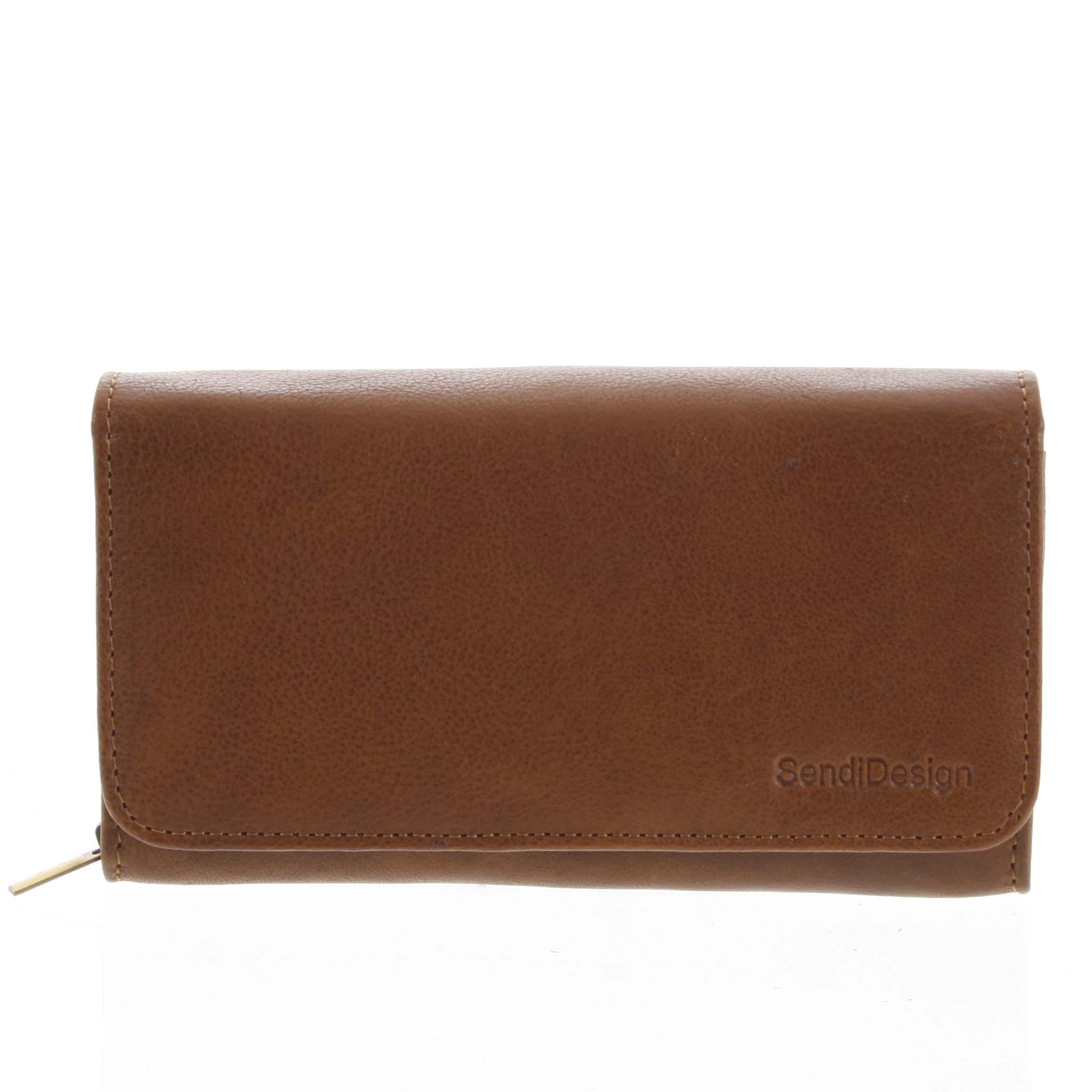 Dámská kožená peněženka světle hnědá - SendiDesign Really