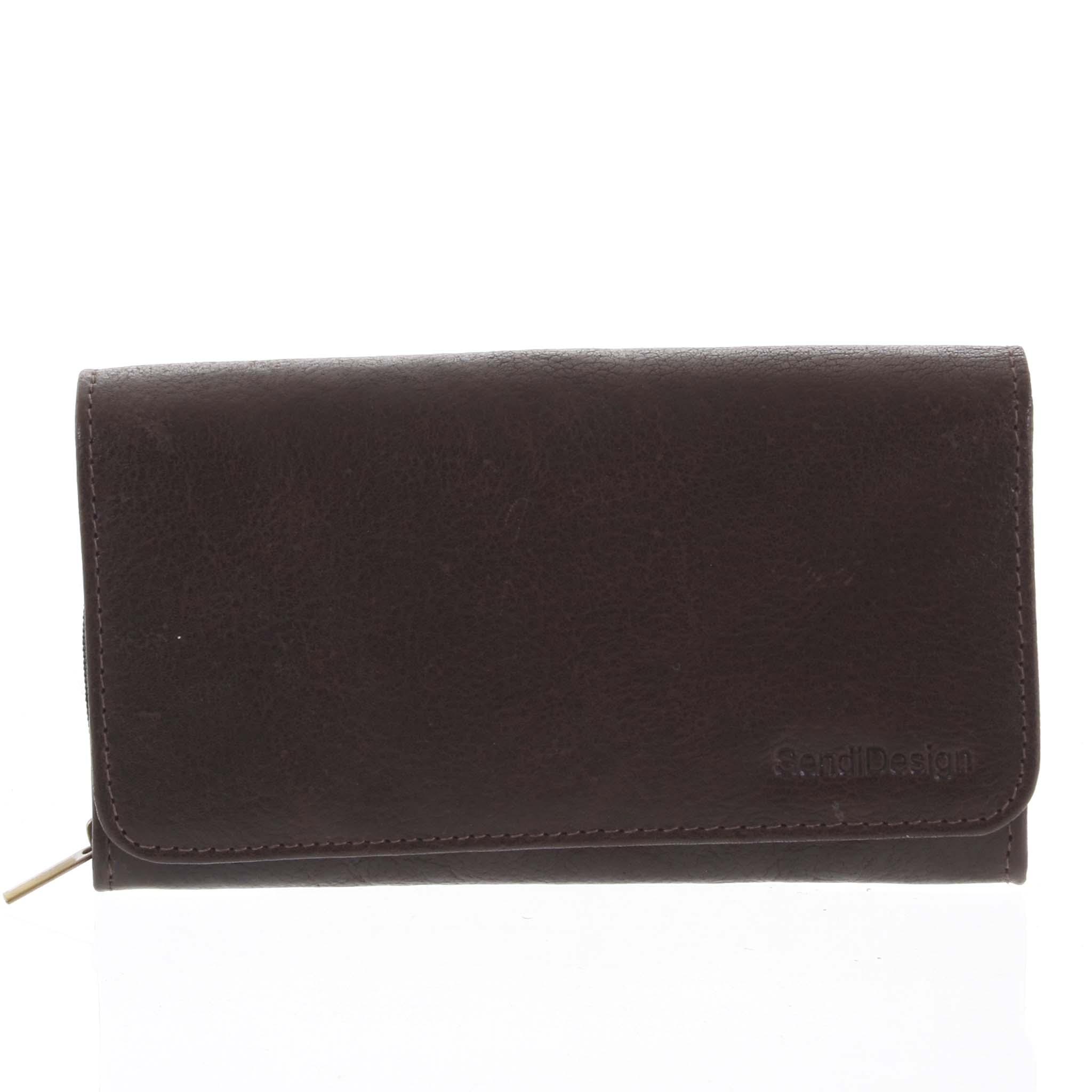 Dámská kožená peněženka tmavě hnědá - SendiDesign Really