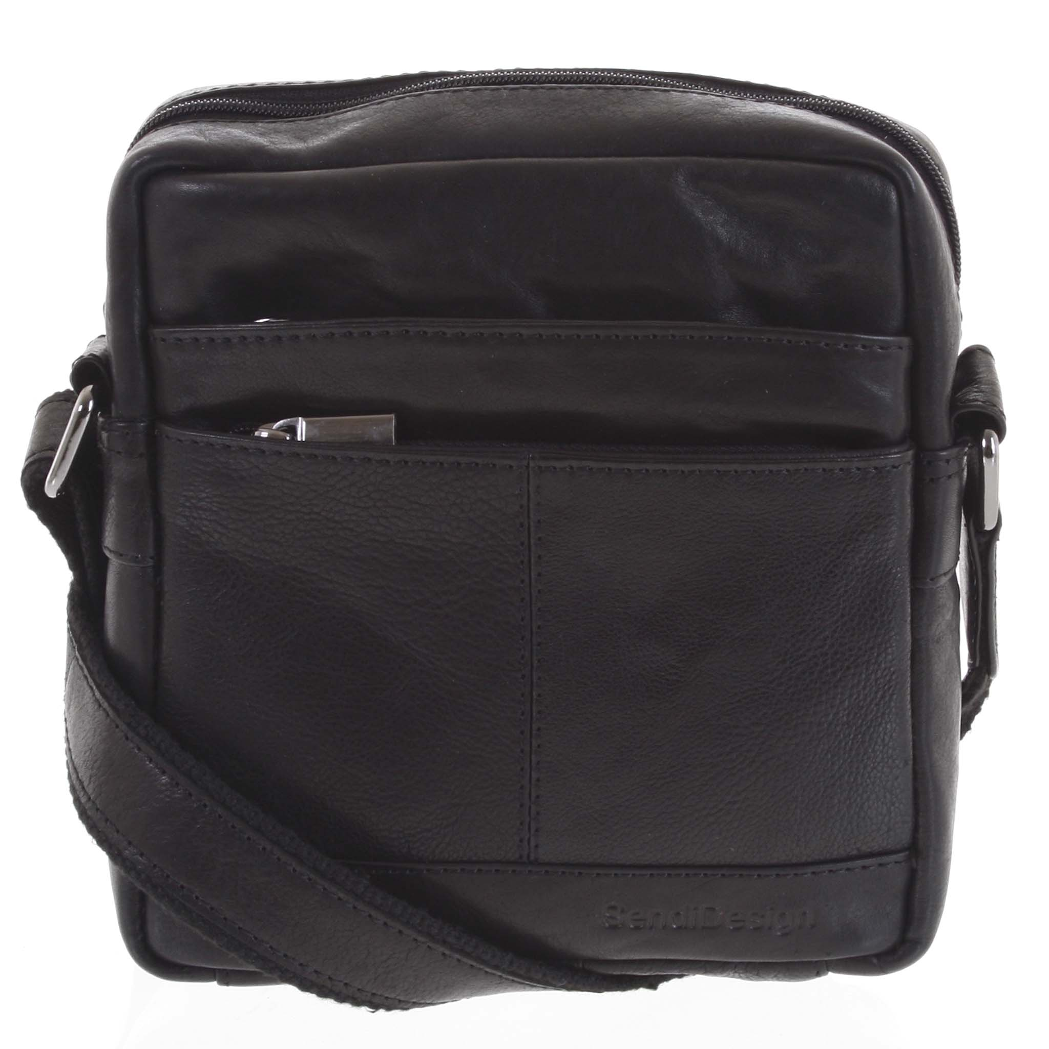 Pánská kožená taška černá - SendiDesign Shaper