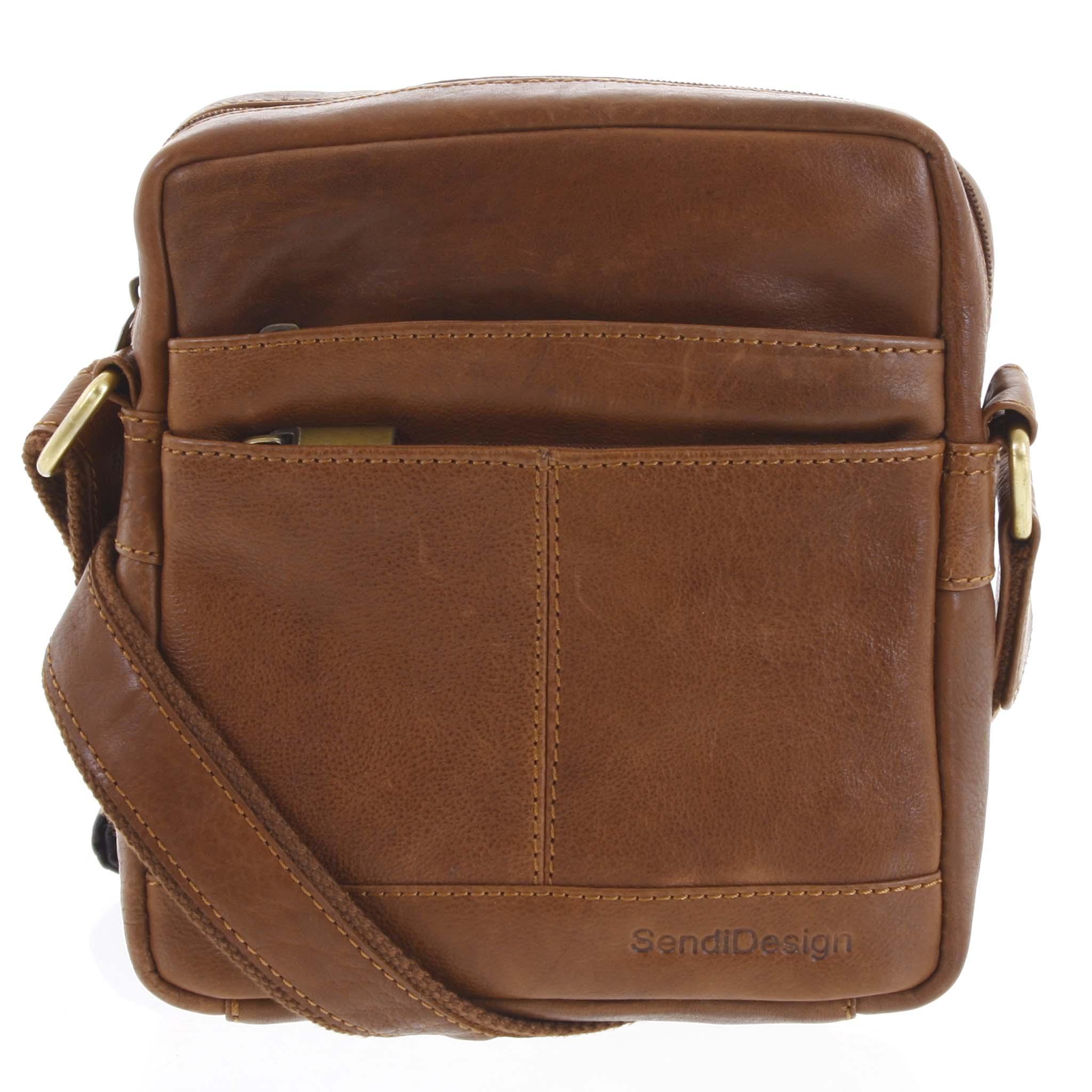 Pánská kožená taška hnědá - SendiDesign Shaper