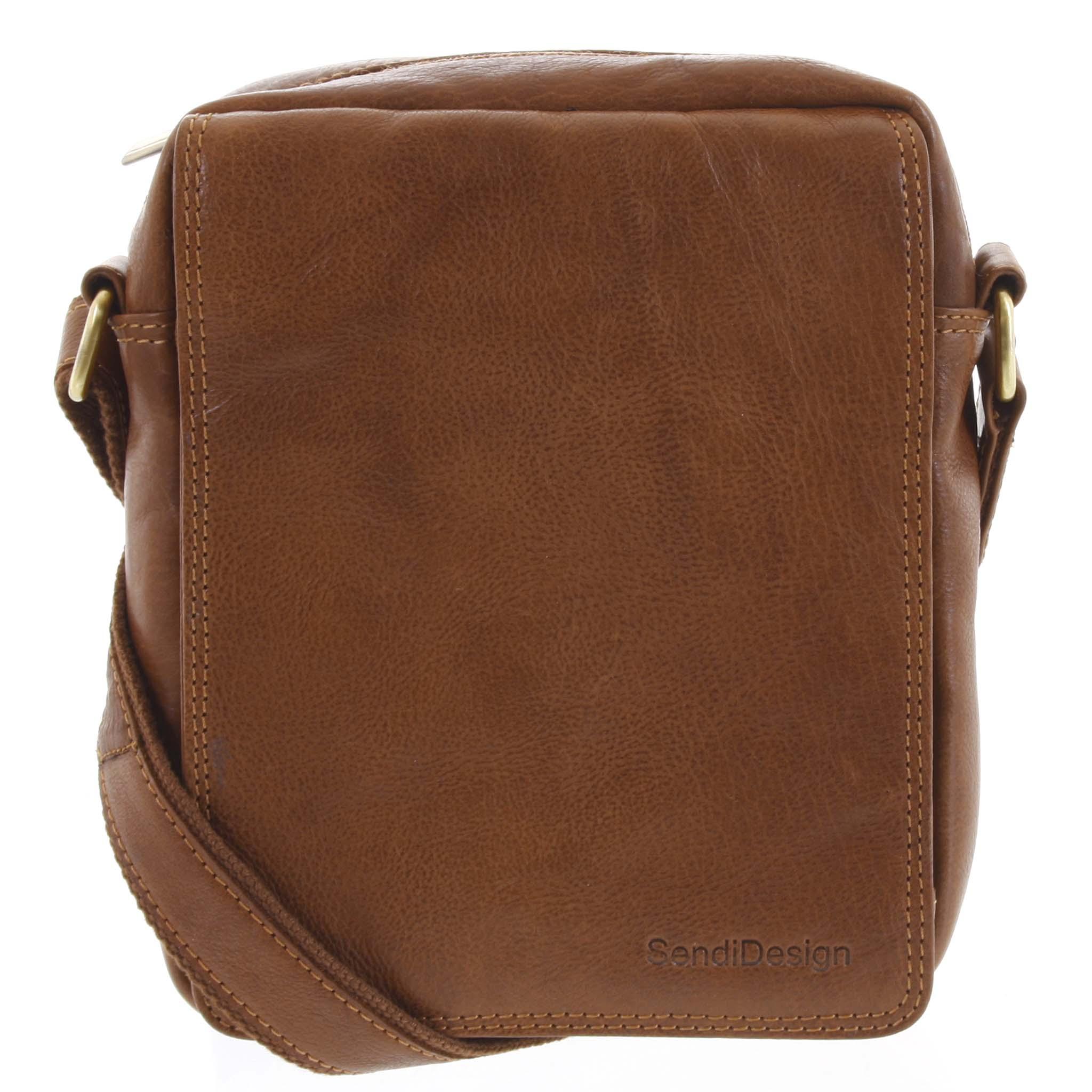 Pánská kožená taška hnědá - SendiDesign Lorem