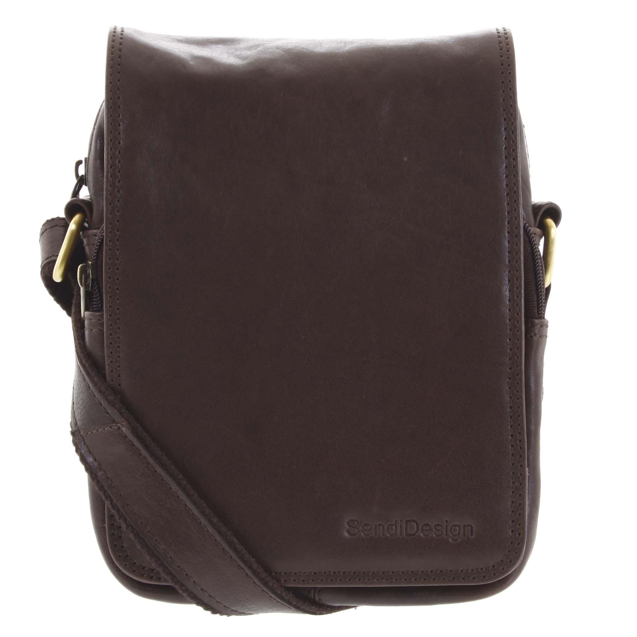 Pánská kožená taška přes rameno tmavě hnědá - SendiDesign Muxos