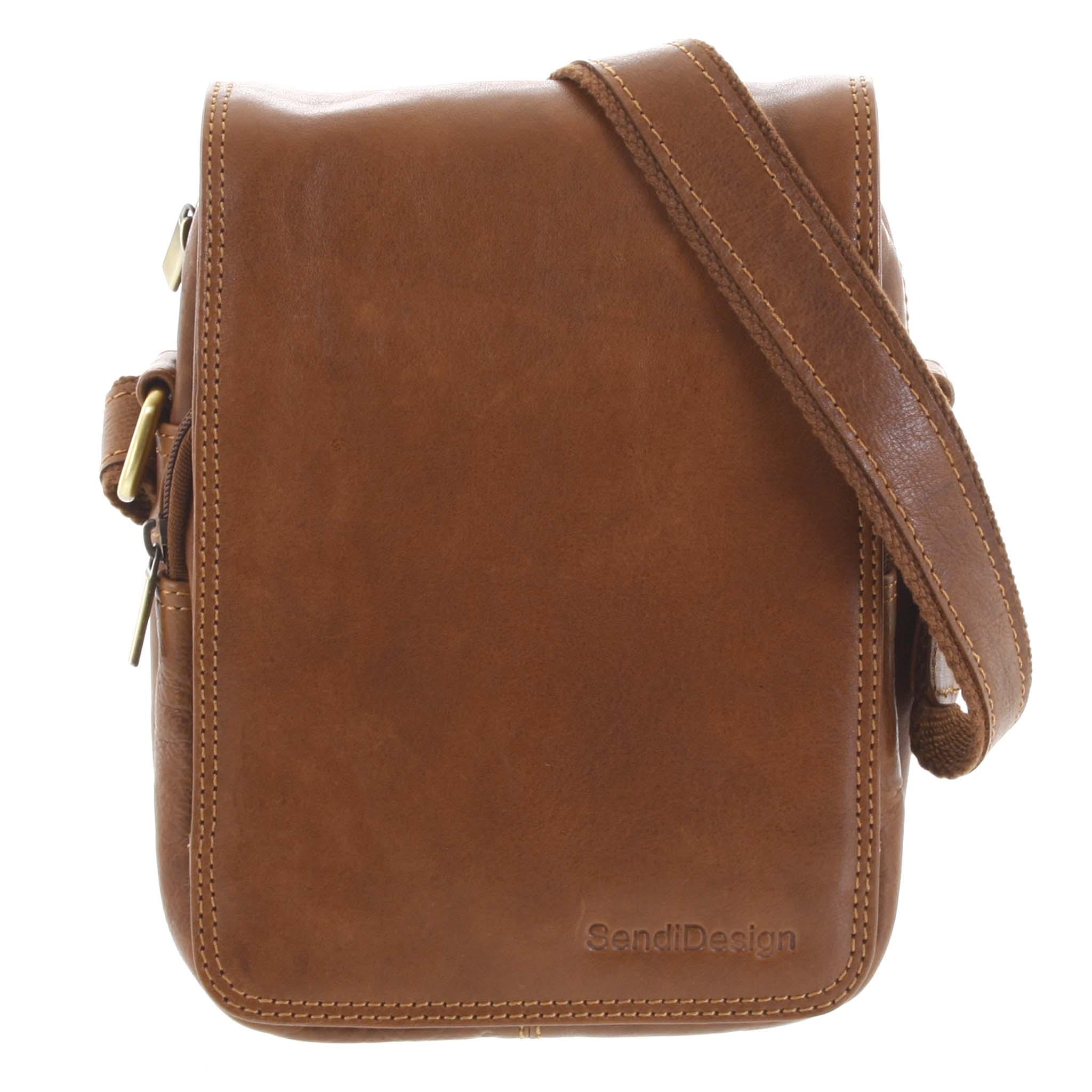 Pánská kožená taška přes rameno hnědá - SendiDesign Muxos