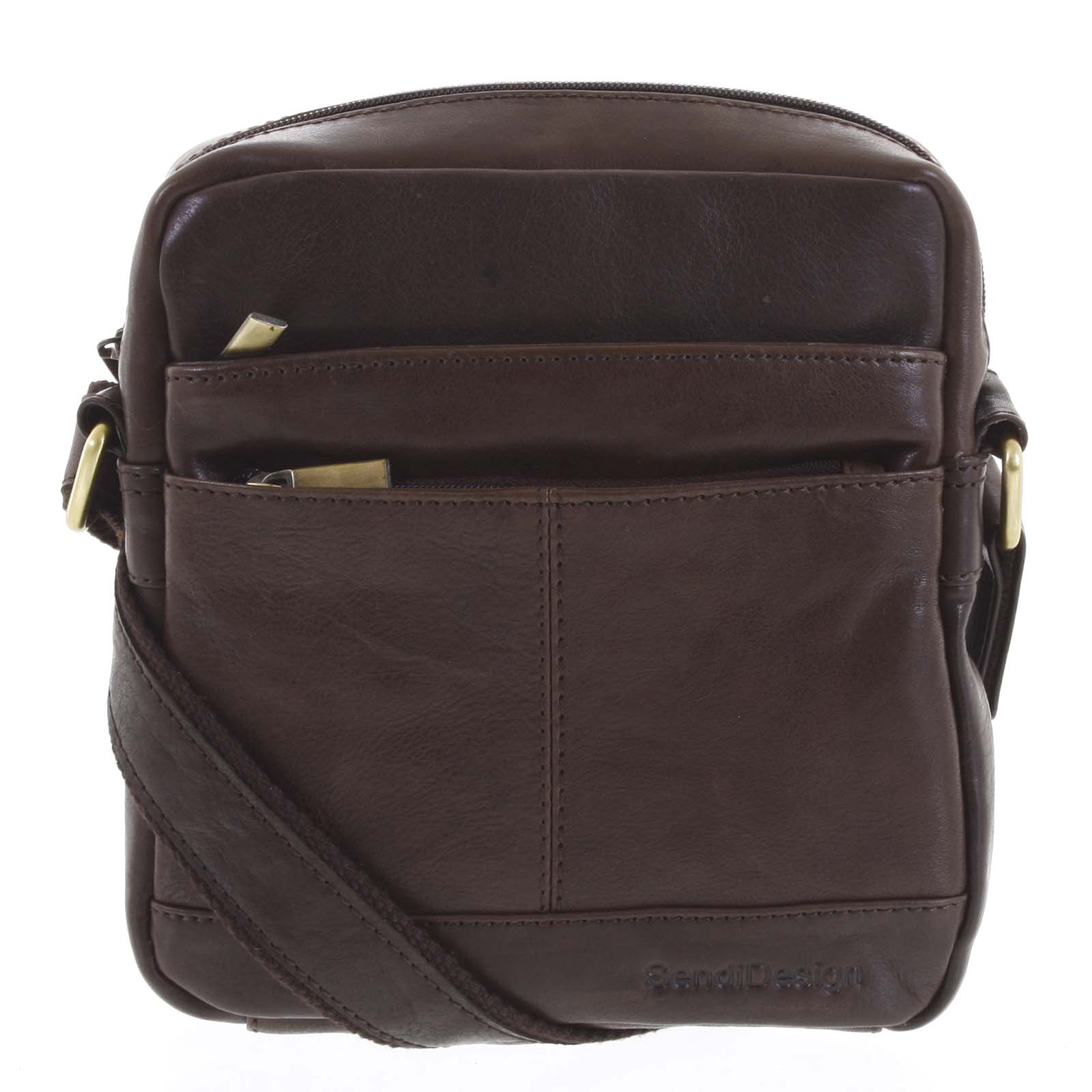 Pánská kožená taška tmavě hnědá - SendiDesign Shaper
